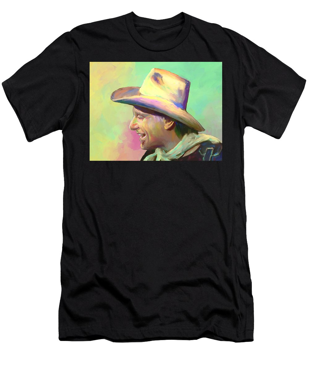 Jerry Jeff Walker T-Shirt featuring the mixed media Jerry Jeff The Gypsy Songman by G Cannon