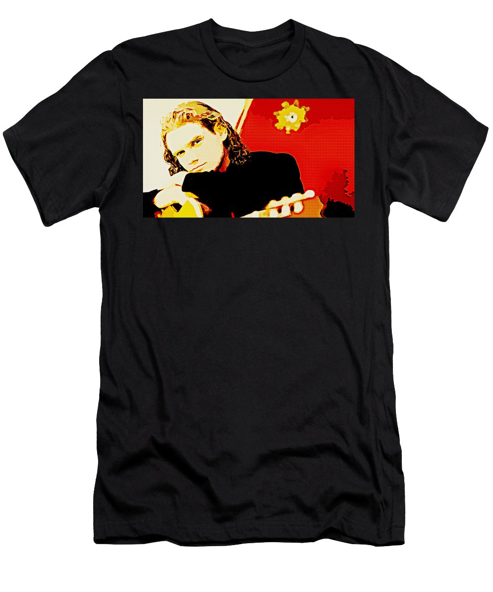 Jesse Cook Men's T-Shirt (Athletic Fit) featuring the digital art Jesse Cook by Lora Battle