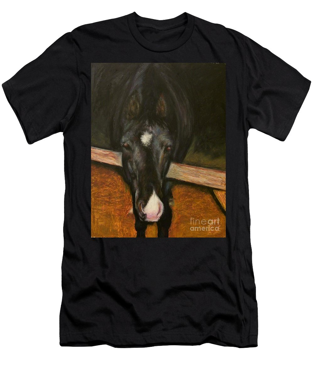 Horse Men's T-Shirt (Athletic Fit) featuring the painting Jesse by Frances Marino