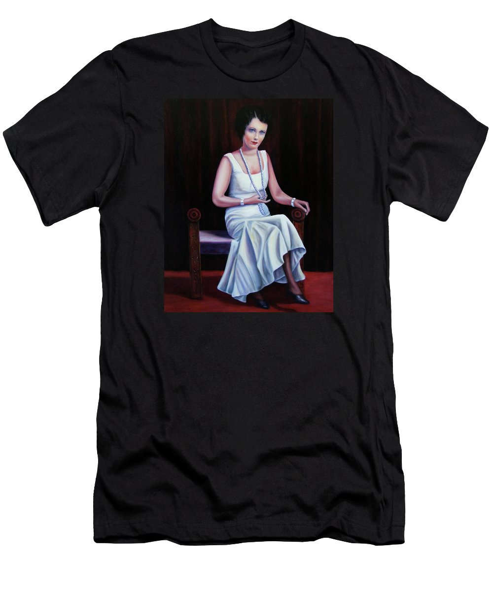 Portrait T-Shirt featuring the painting Jessie Mckay Lane by Shannon Grissom