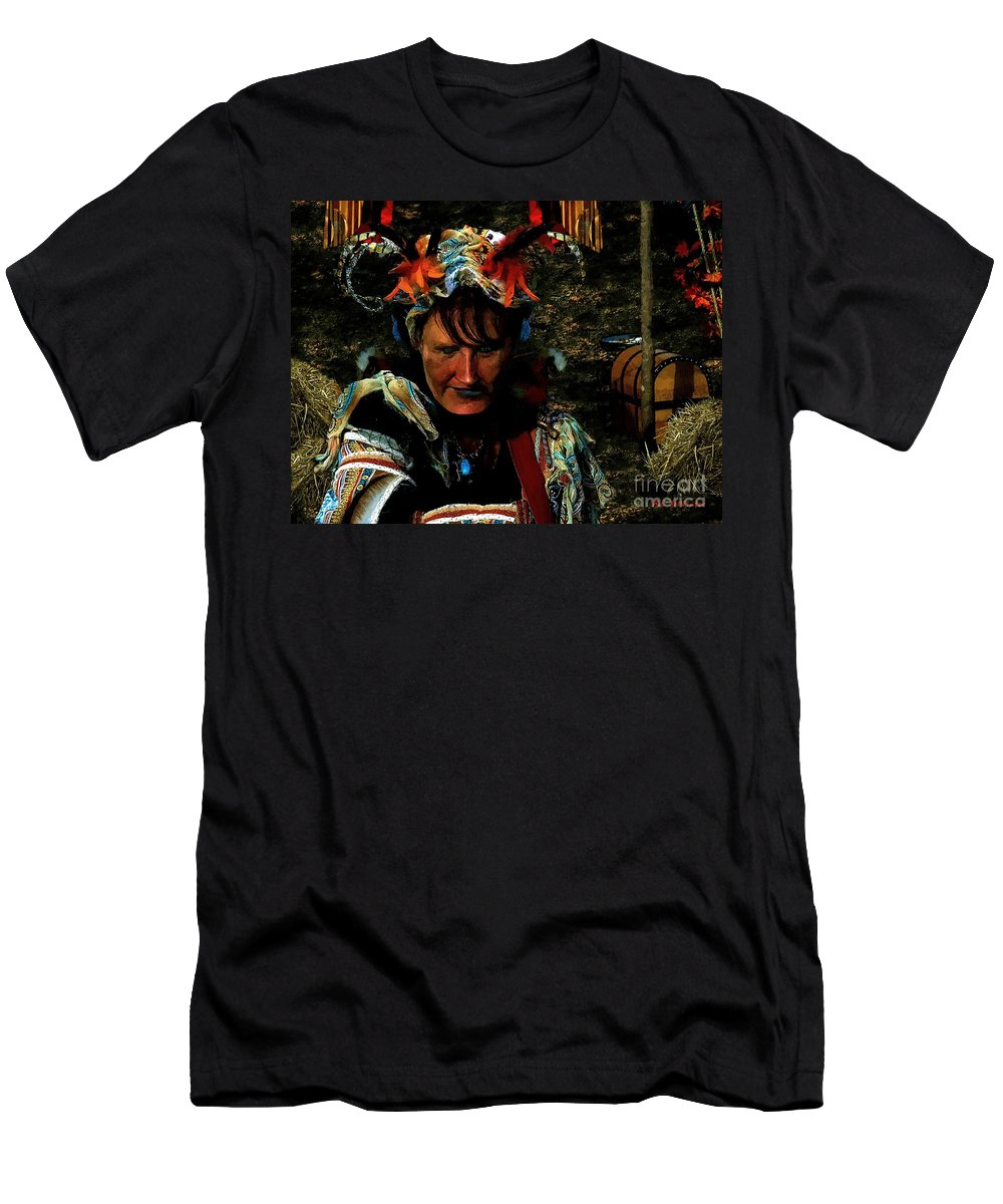 Jester Men's T-Shirt (Athletic Fit) featuring the painting Jester Somnolent by RC DeWinter
