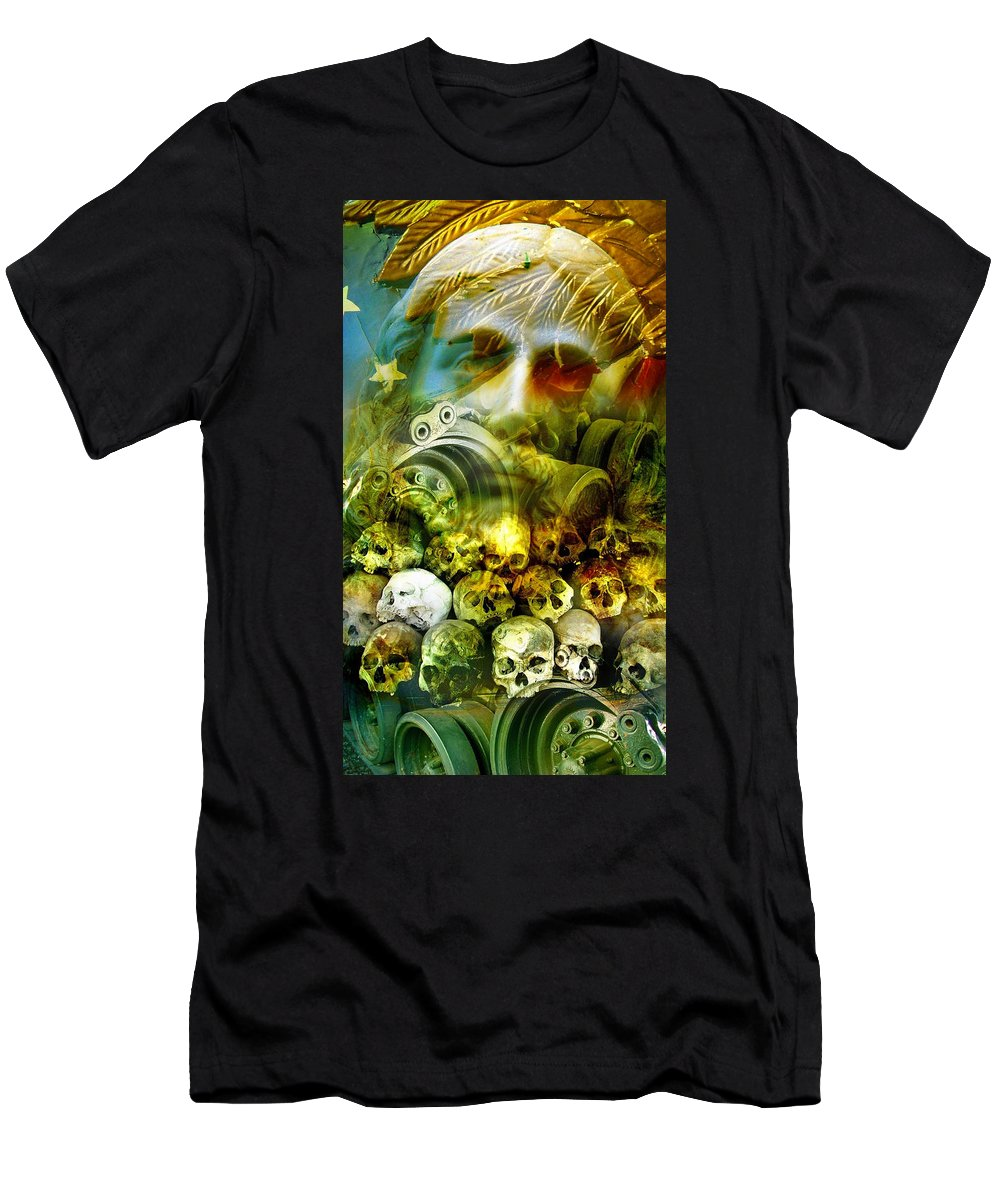 Jesus T-Shirt featuring the photograph Jesus Wept by Skip Hunt