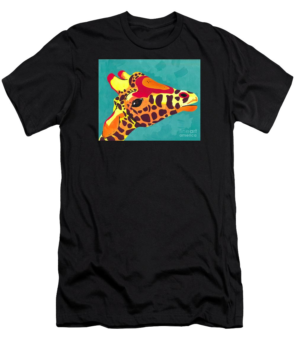 Giraffe Men's T-Shirt (Athletic Fit) featuring the painting Jett by Jade Kozlowski-Goetz