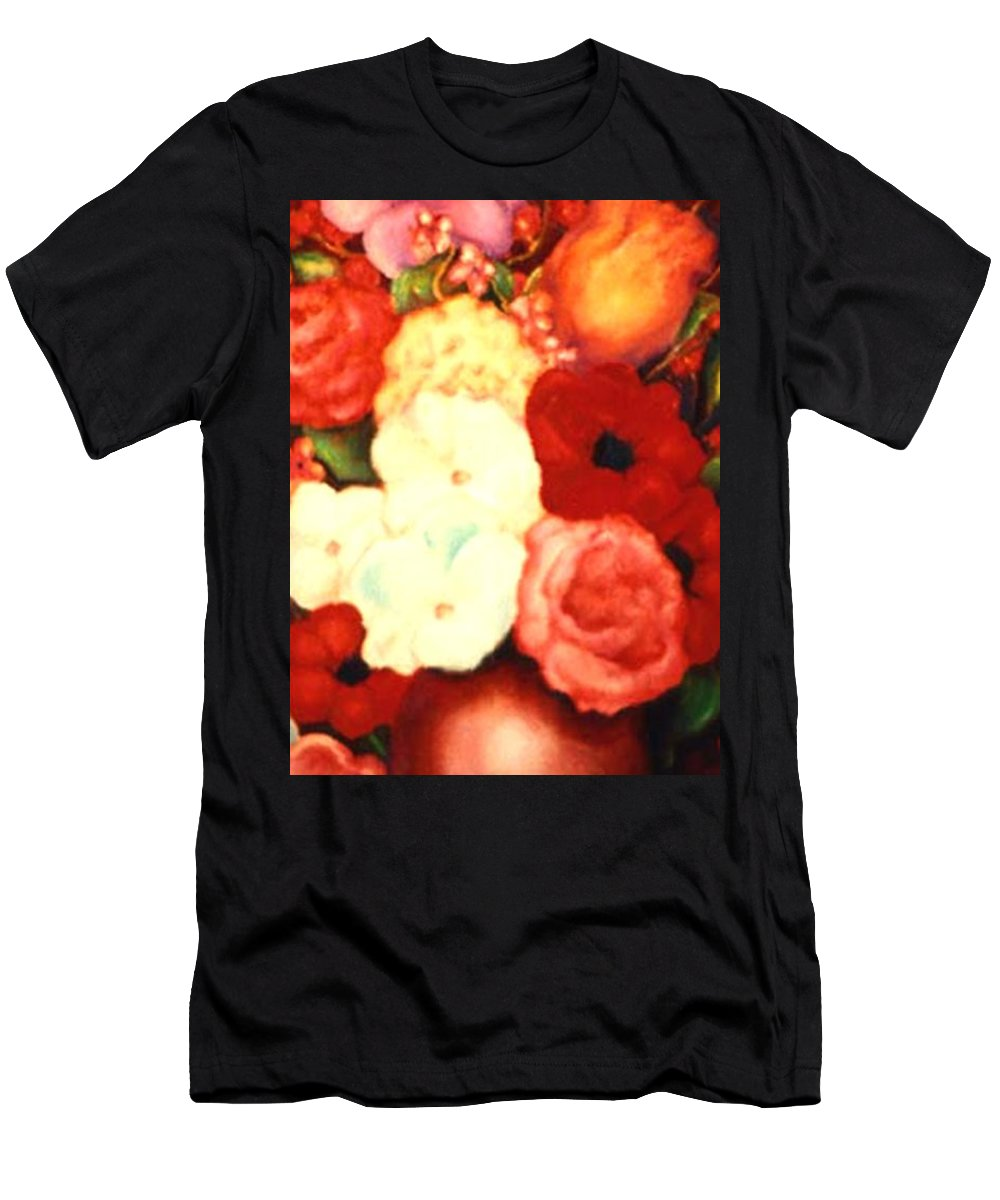 Flowers Men's T-Shirt (Athletic Fit) featuring the painting Jewel Flowers by Jordana Sands