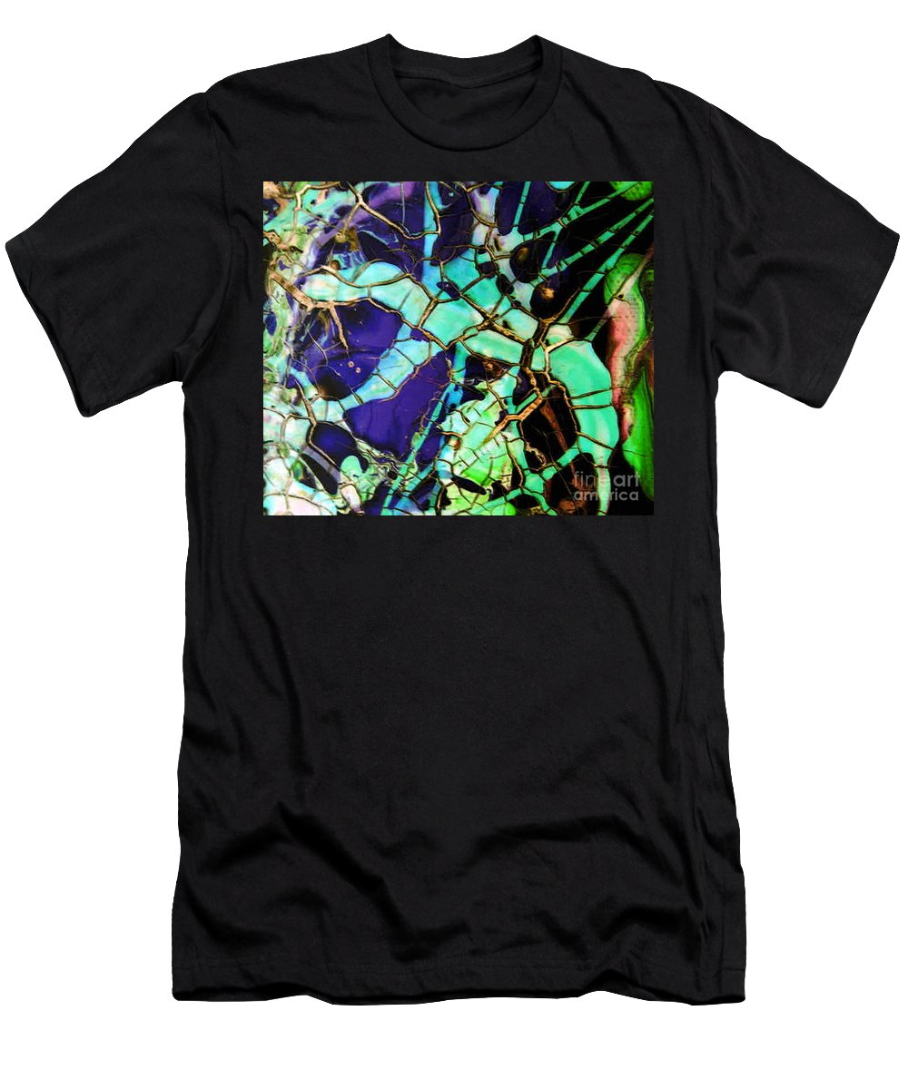 Jewels Men's T-Shirt (Athletic Fit) featuring the painting Jewels by Dawn Hough Sebaugh
