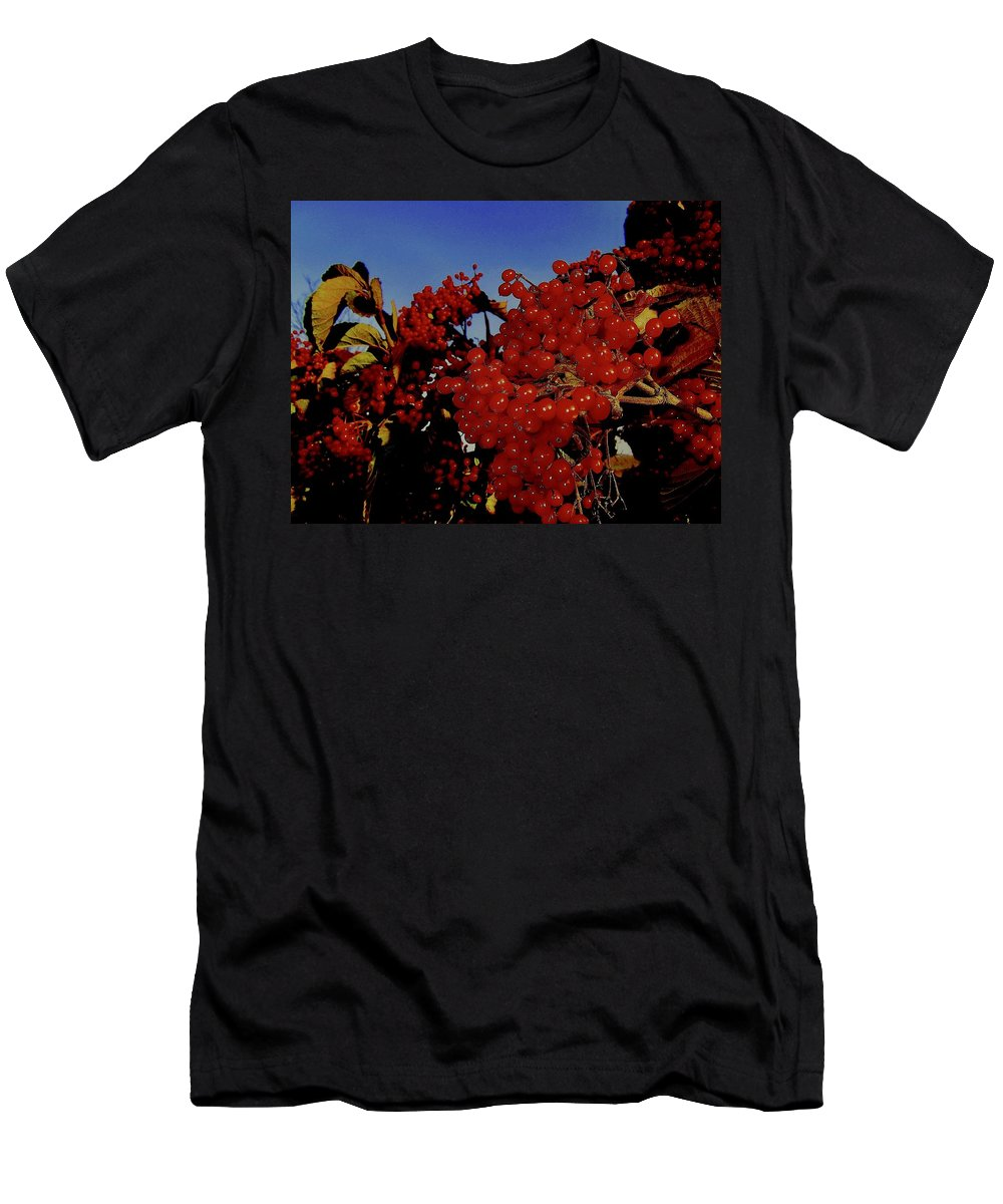Berries Men's T-Shirt (Athletic Fit) featuring the photograph Jewels Of Autumn 4 by Elizabeth Tillar