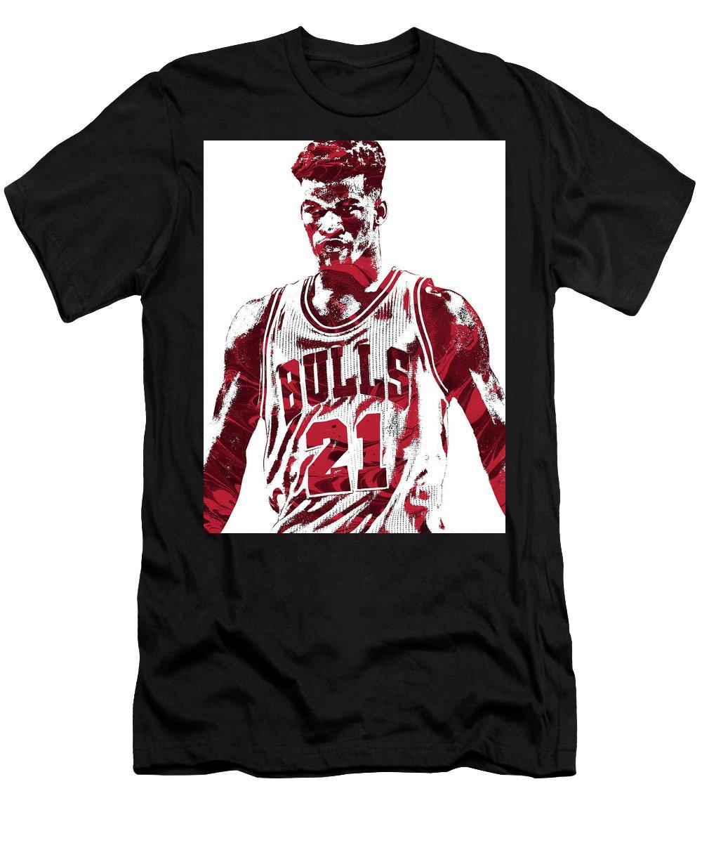 size 40 55199 d3713 Jimmy Butler Chicago Bulls Pixel Art 2 Men's T-Shirt (Athletic Fit)