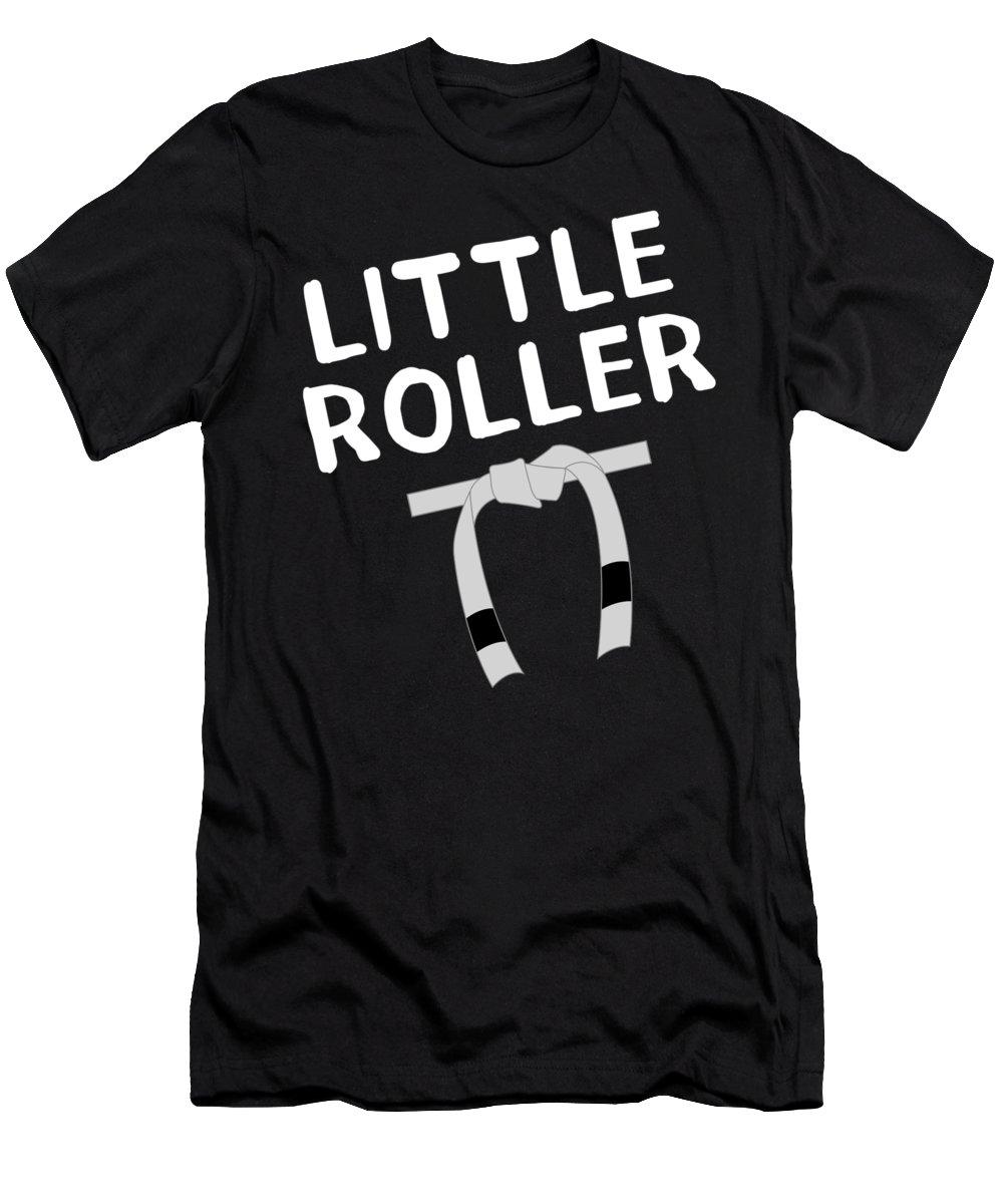 Bjj Men's T-Shirt (Athletic Fit) featuring the digital art Jiu Jitsu Bjj Little Roller White Light by J P