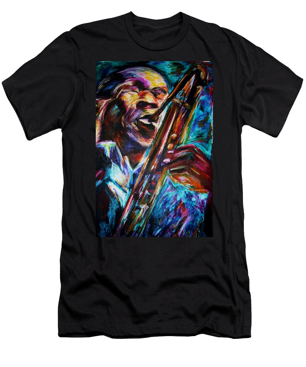 Jazz Men's T-Shirt (Athletic Fit) featuring the painting John Coltrane by Frances Marino