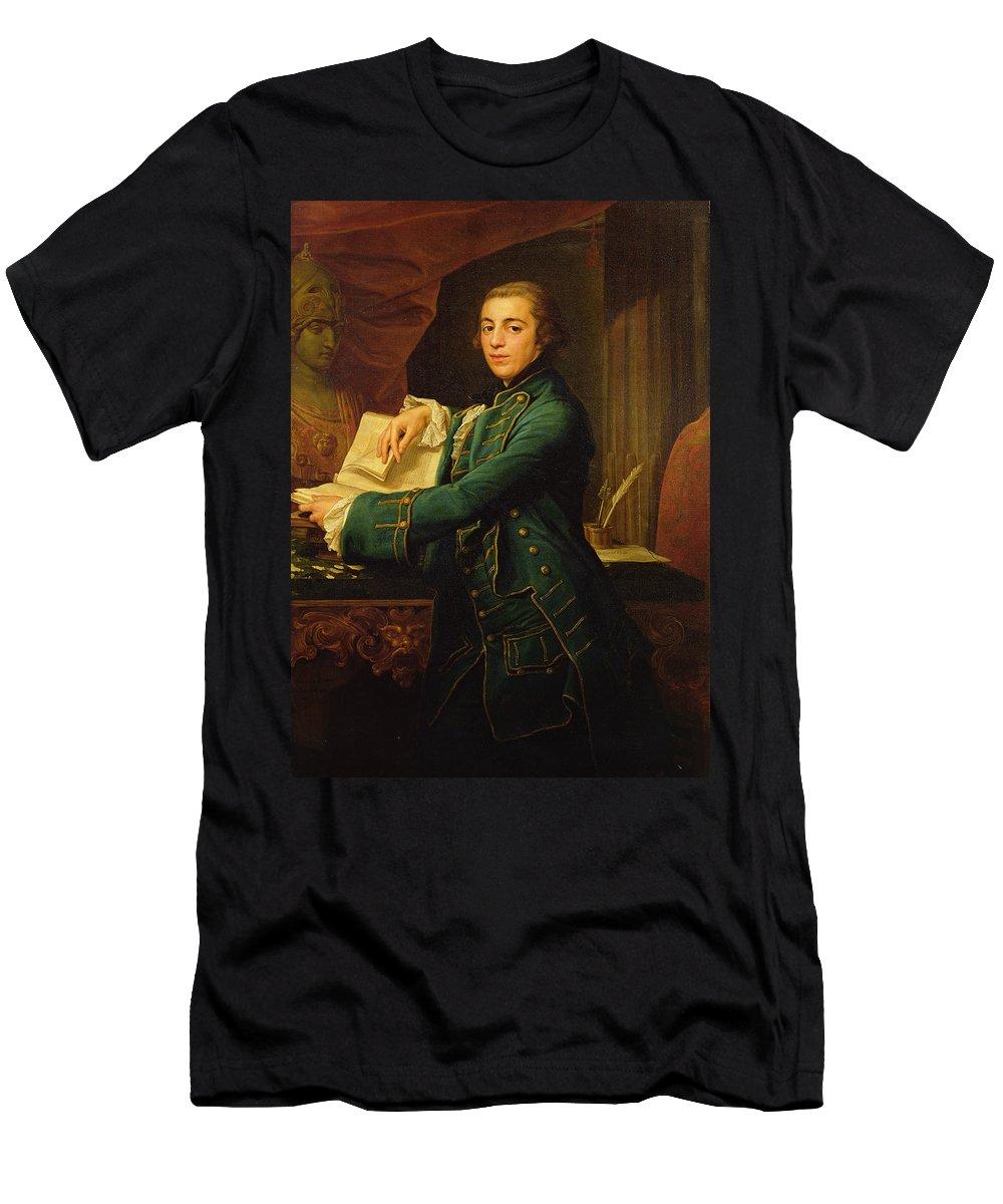 John Men's T-Shirt (Athletic Fit) featuring the painting John Crewe by Pompeo Girolamo Batoni