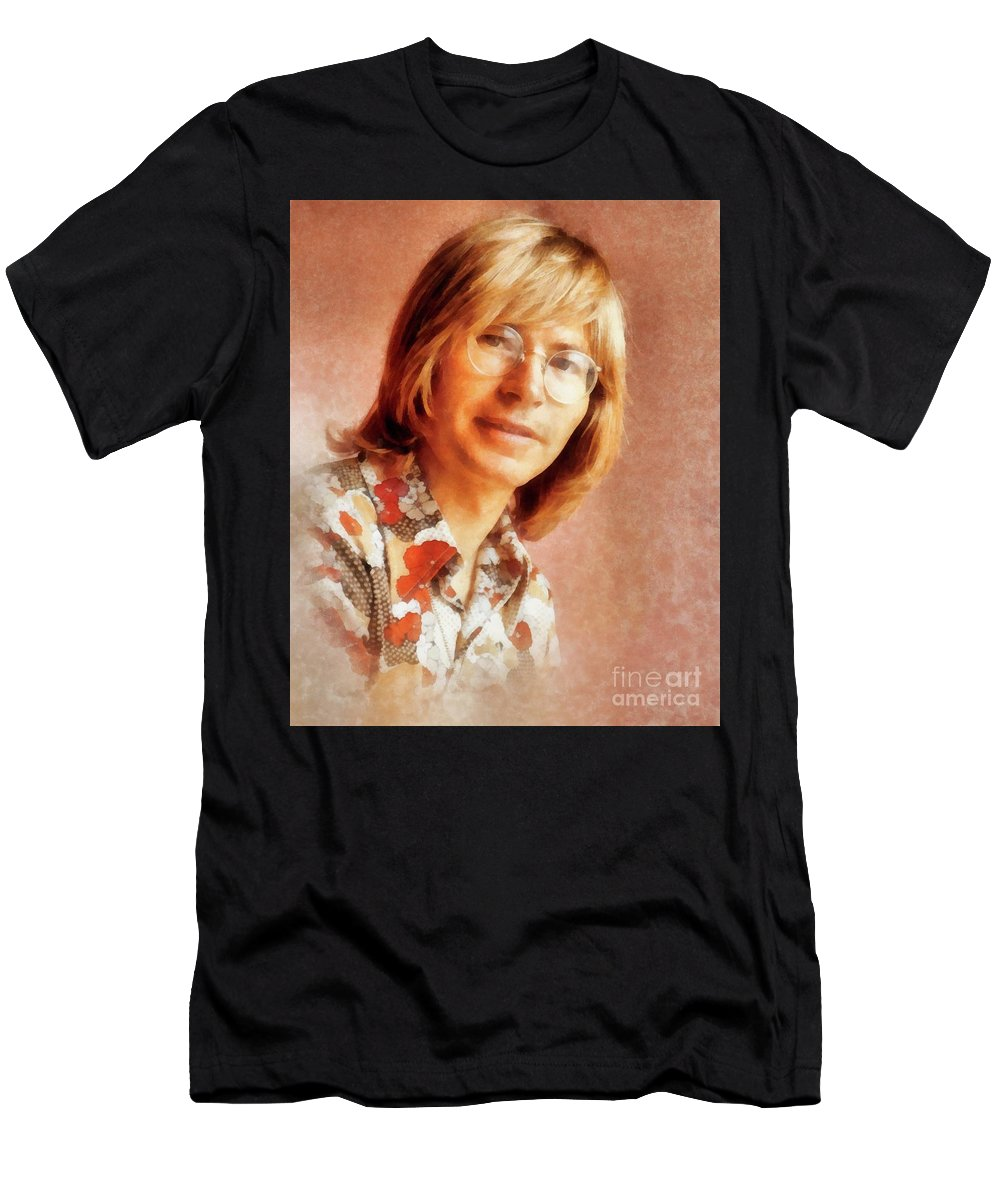 Hollywood Men's T-Shirt (Athletic Fit) featuring the painting John Denver By John Springfield by John Springfield