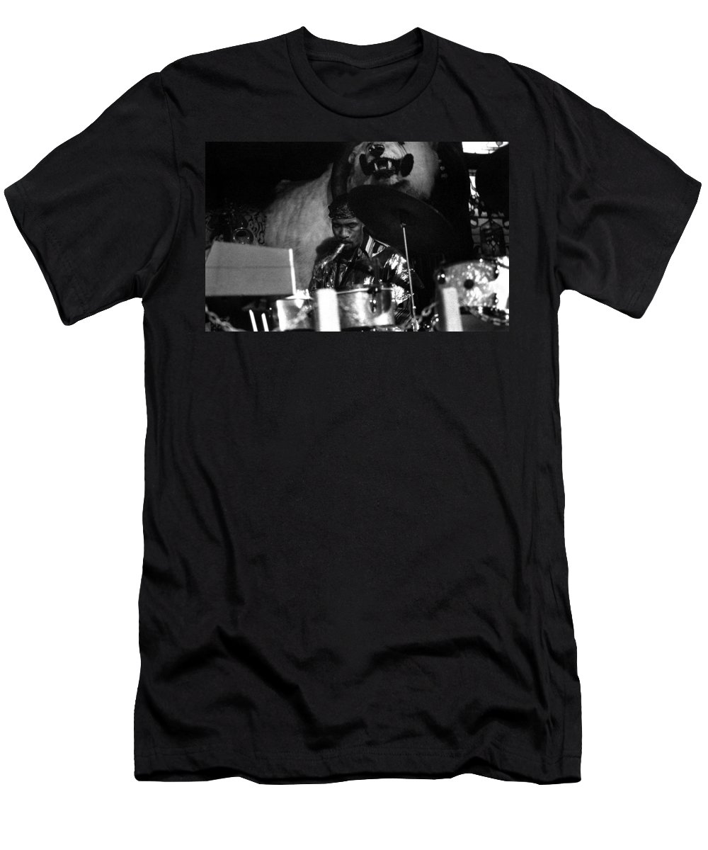 Jazz Men's T-Shirt (Athletic Fit) featuring the photograph John Gilmore At The Red Garter 1970 Nyc by Lee Santa