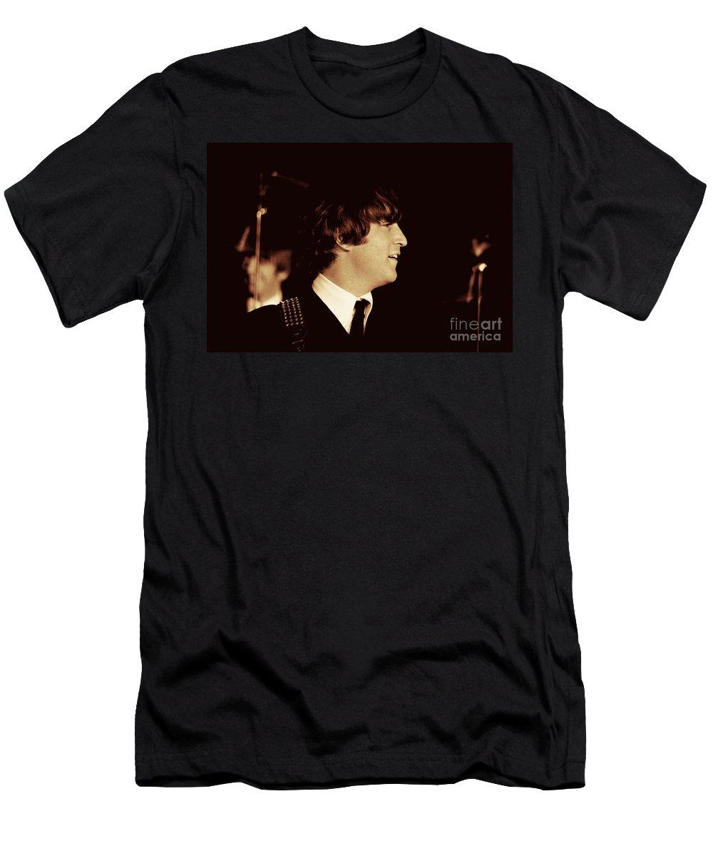 Beatles T-Shirt featuring the photograph John Lennon by Larry Mulvehill