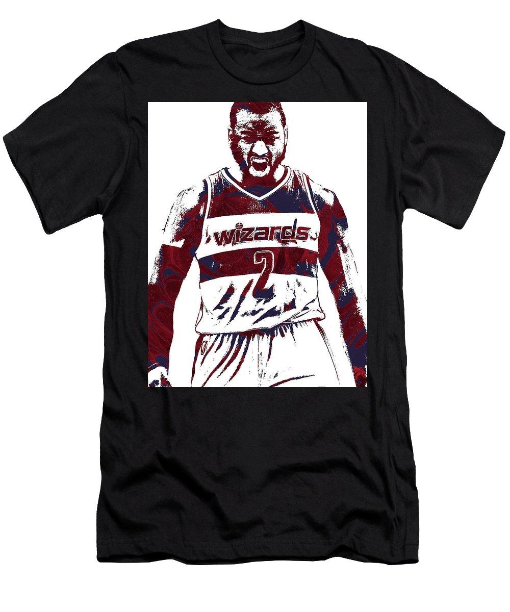 41958a9c92e John Wall Men s T-Shirt (Athletic Fit) featuring the mixed media John Wall