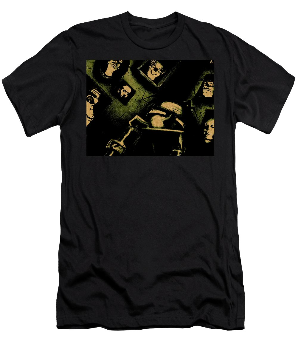 Johnny The Homicidal Maniac Men's T-Shirt (Athletic Fit) featuring the digital art Johnny The Homicidal Maniac by Lora Battle