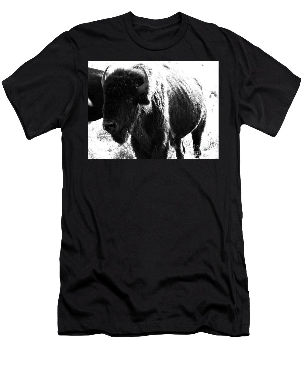 Buffalo Men's T-Shirt (Athletic Fit) featuring the photograph Join The Party by Amanda Barcon