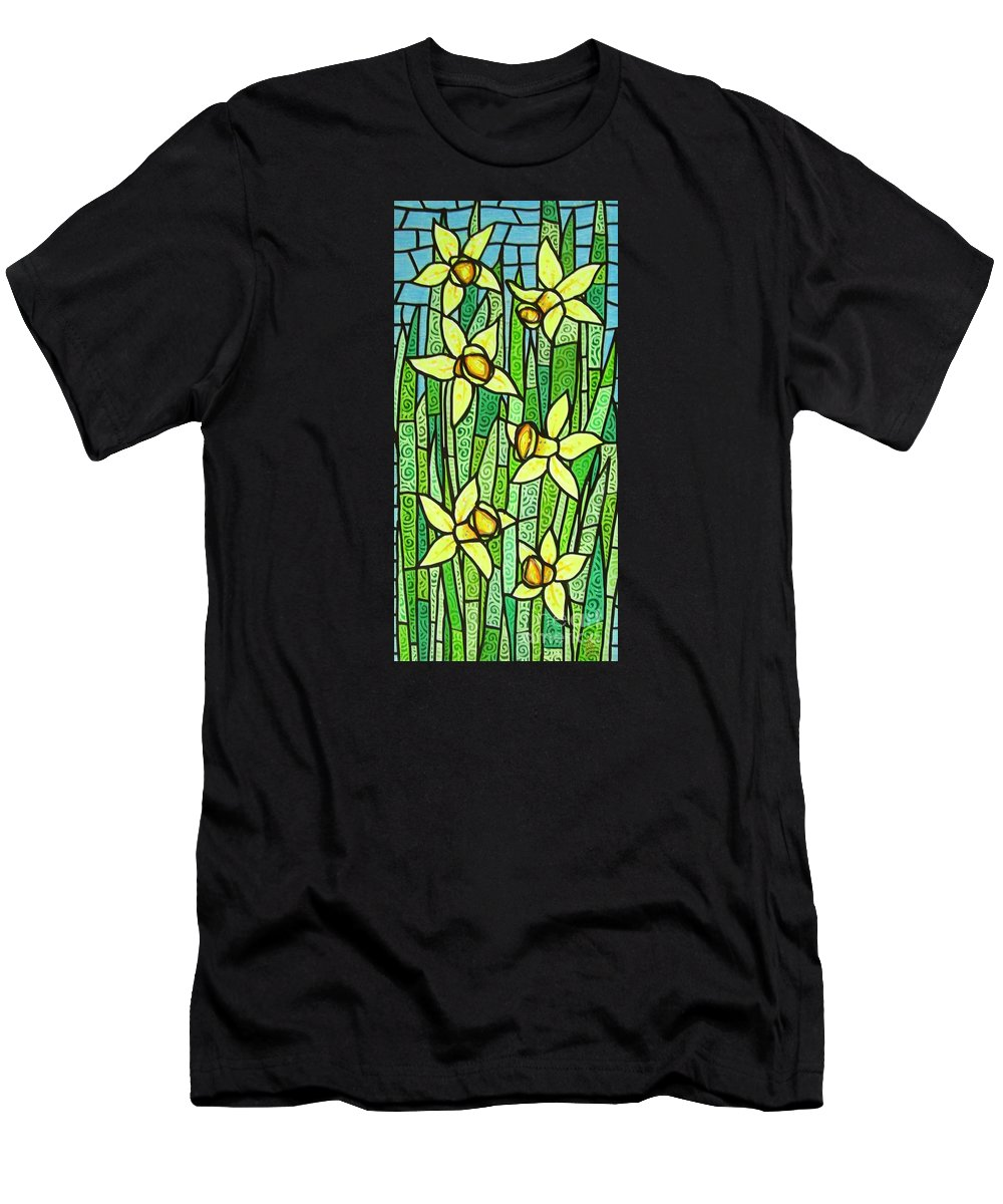 Jonquils Men's T-Shirt (Athletic Fit) featuring the painting Jonquil Glory by Jim Harris