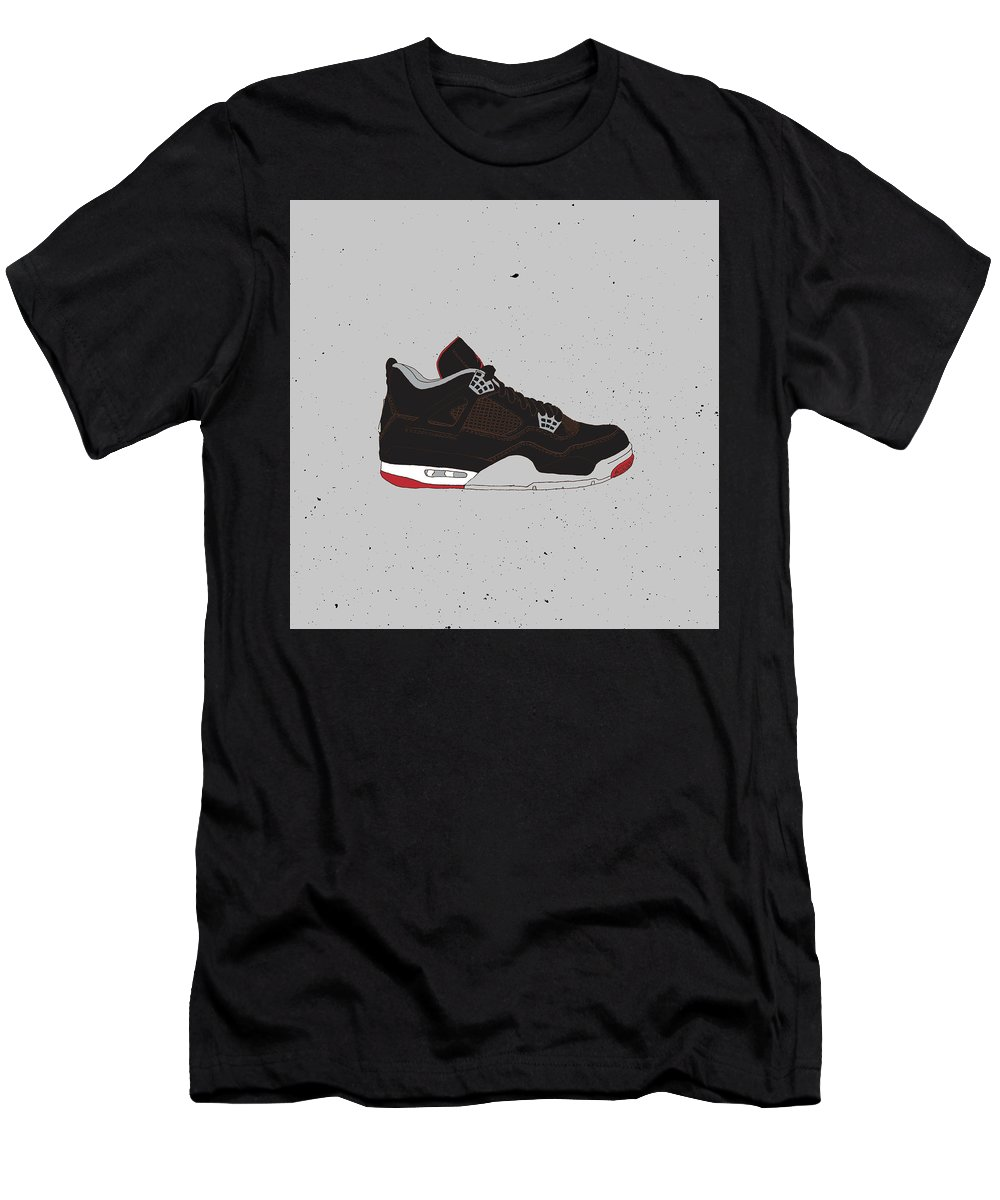 5460c68b2fd5 Jordan 4 Black Cement T-Shirt for Sale by Letmedraw Yourpicture