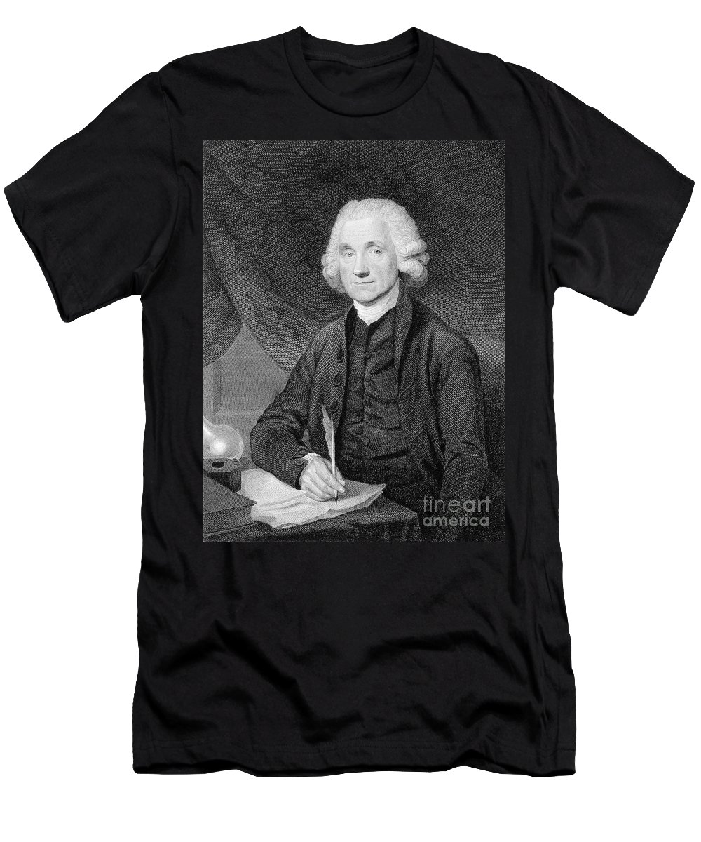 History Men's T-Shirt (Athletic Fit) featuring the photograph Joseph Priestley, English Chemist by Wellcome Images