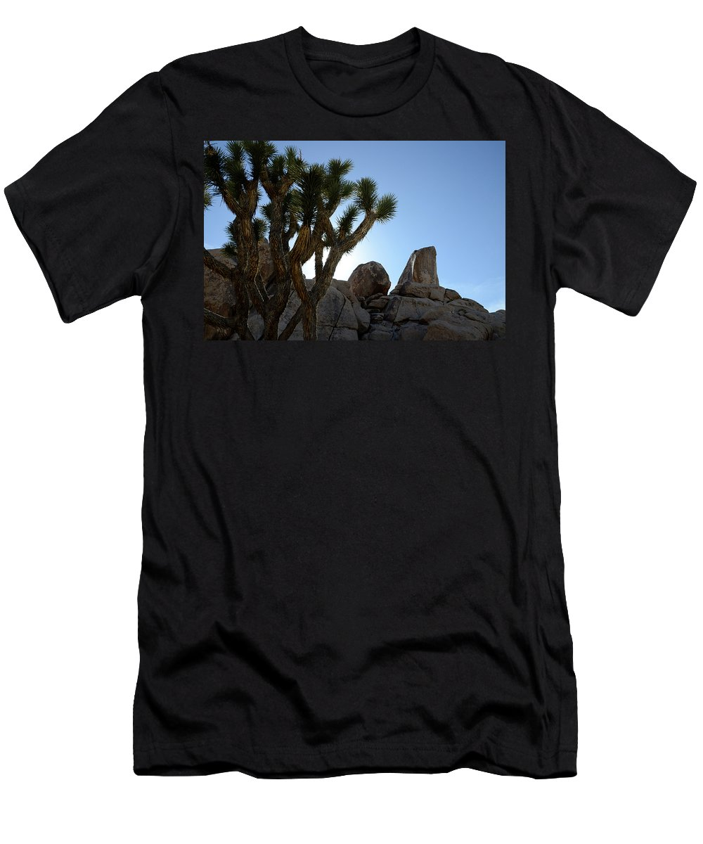 Joshua Tree National Park Men's T-Shirt (Athletic Fit) featuring the photograph Joshua Tree California by Bob Christopher