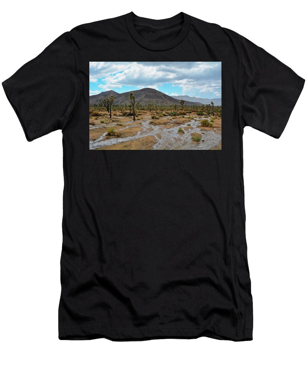 Joshua Tree Men's T-Shirt (Athletic Fit) featuring the photograph Joshua Tree Monsoon by Kyle Hanson
