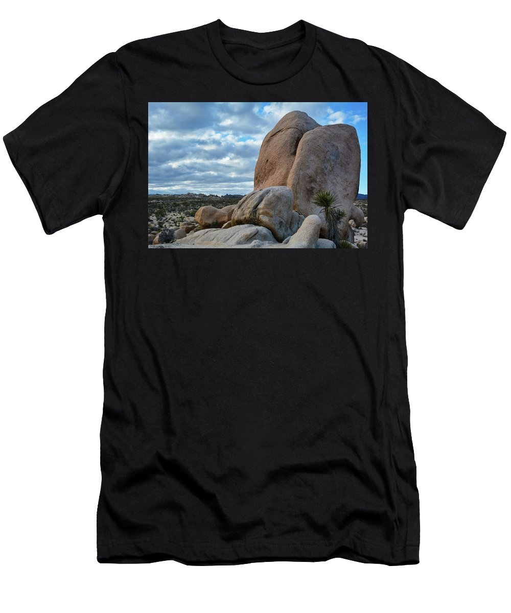 Joshua Tree Men's T-Shirt (Athletic Fit) featuring the photograph Joshua Tree Rocks by Kyle Hanson