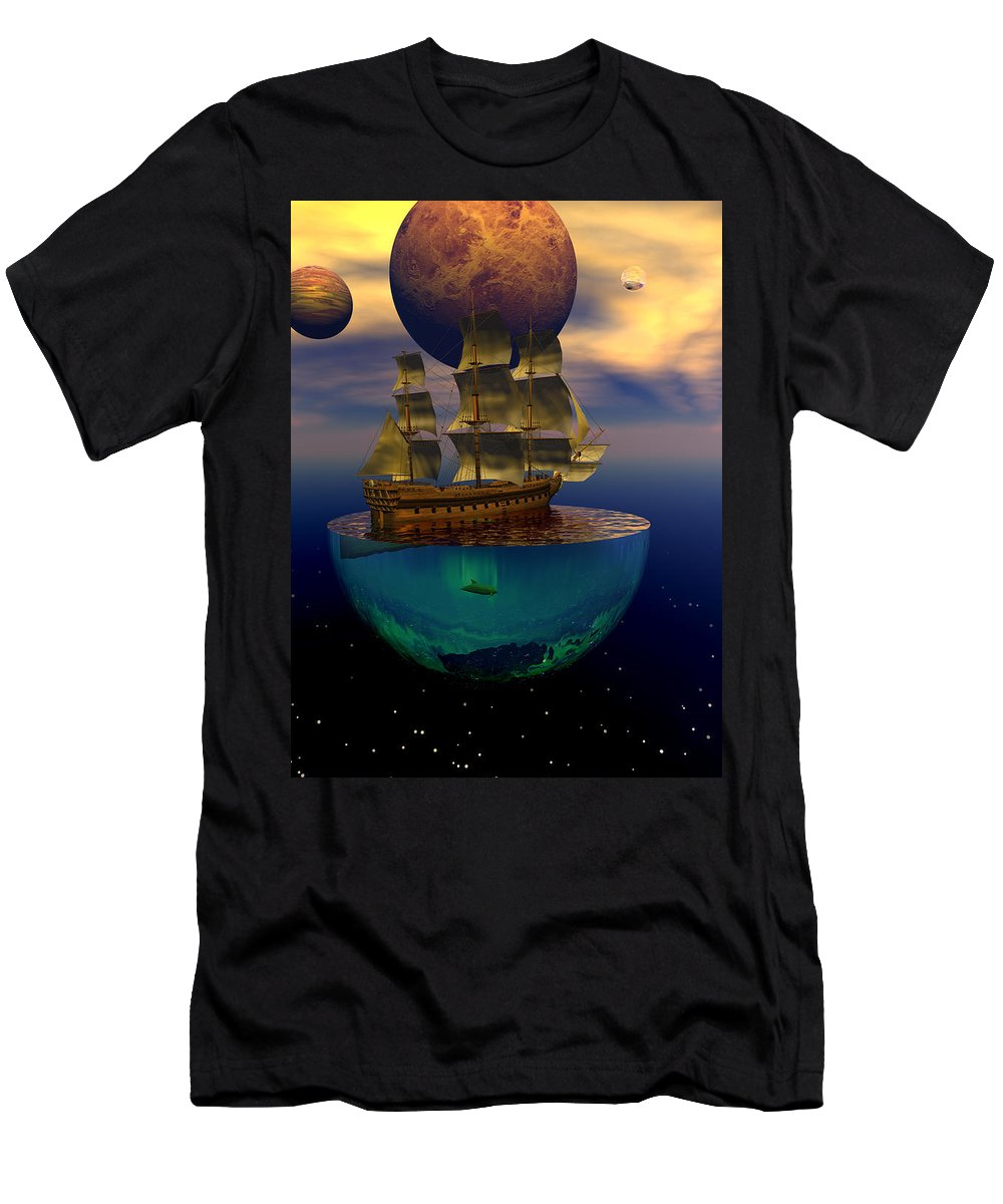 Bryce Men's T-Shirt (Athletic Fit) featuring the digital art Journey Into Imagination by Claude McCoy