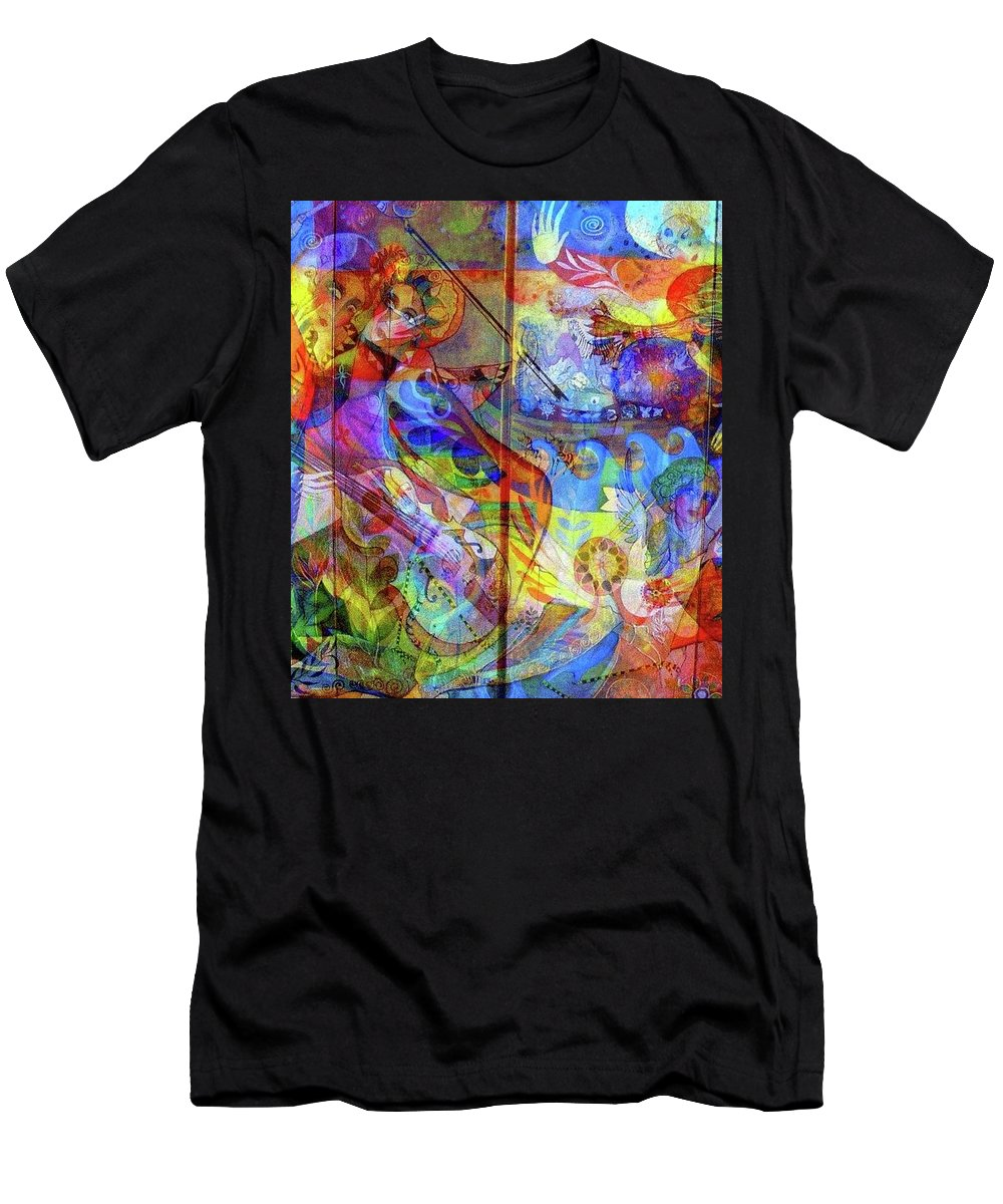 Happy Digital Work Men's T-Shirt (Athletic Fit) featuring the digital art Joy by Jacqueline Craig