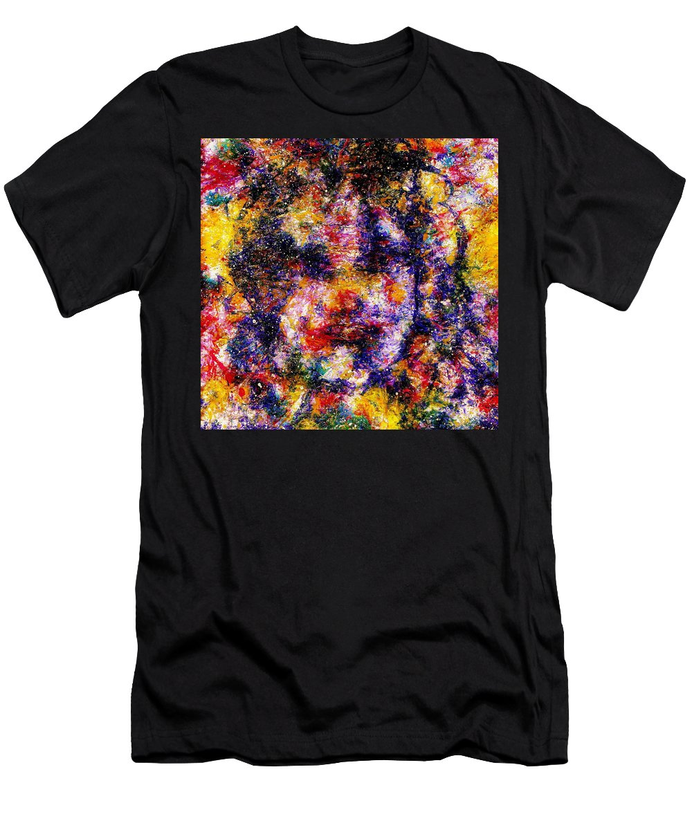 Expressionism Men's T-Shirt (Athletic Fit) featuring the painting Joyful Clown by Natalie Holland