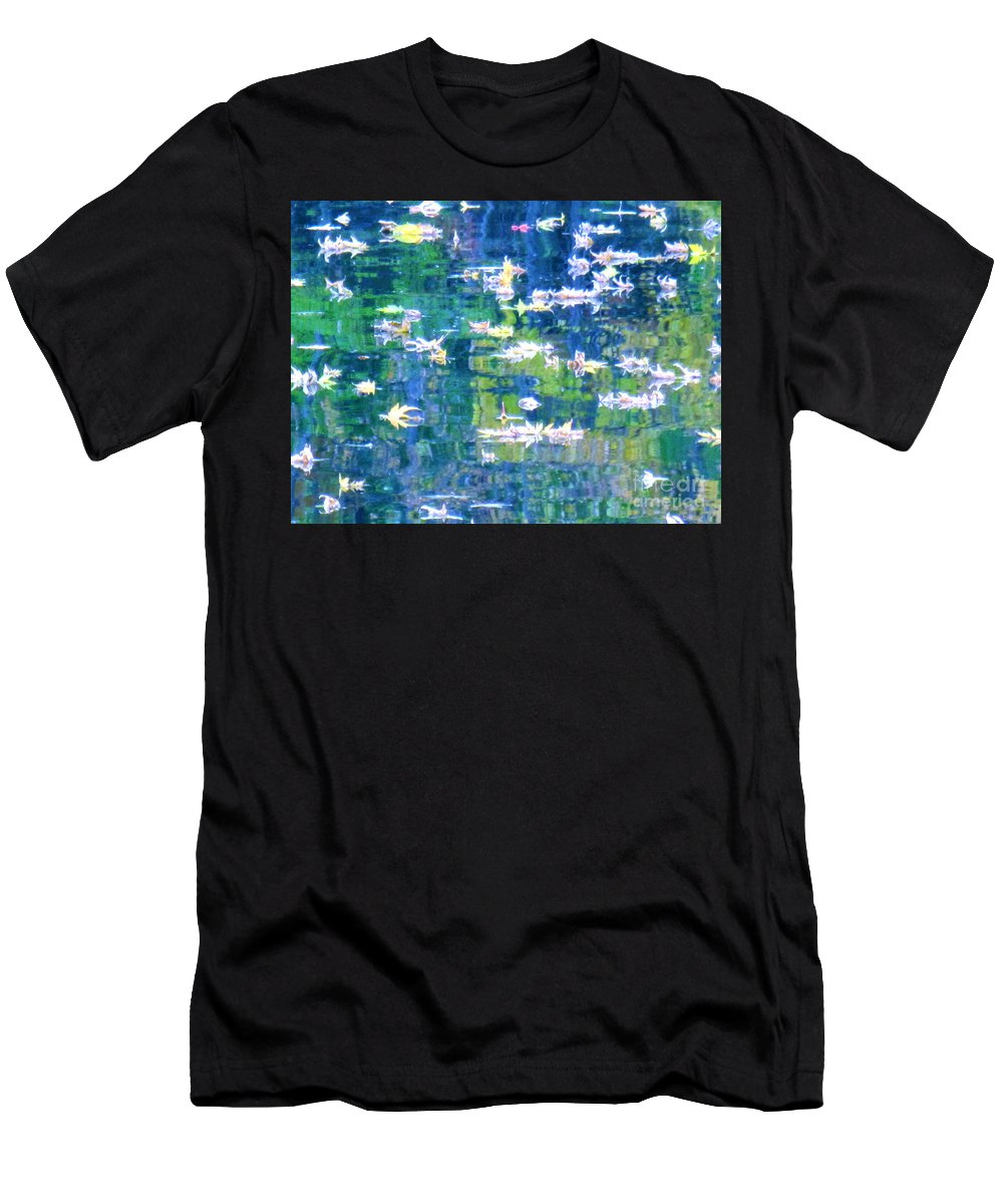 Water Art Men's T-Shirt (Athletic Fit) featuring the photograph Joyful Sound by Sybil Staples