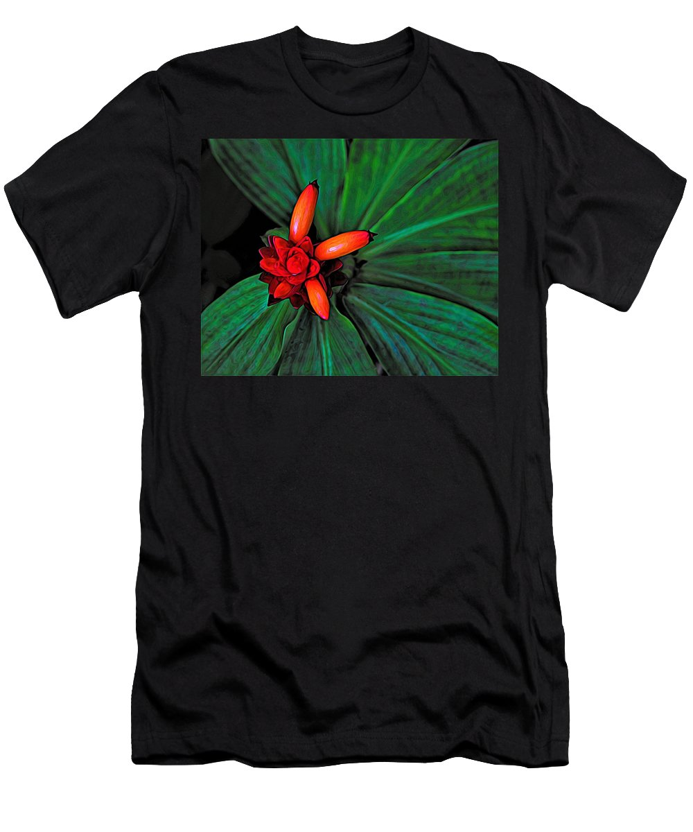 Digital Design Men's T-Shirt (Athletic Fit) featuring the digital art Joyful Spiral by Heidi Fickinger