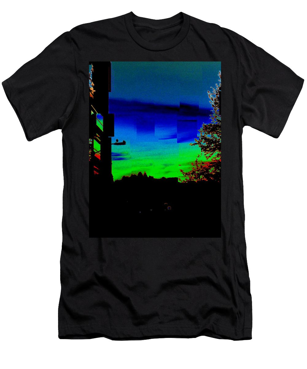Sunset Men's T-Shirt (Athletic Fit) featuring the photograph Joyin The Sunset Together by Tim Allen