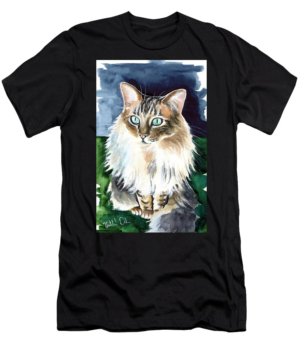 Juju Cashmere Bengal Cat Painting T Shirt For Sale By Dora Hathazi Mendes