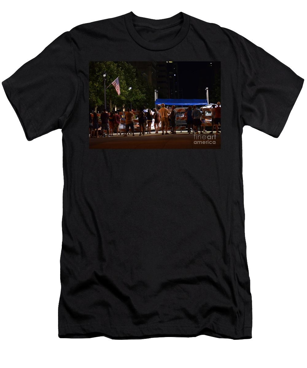 July Men's T-Shirt (Athletic Fit) featuring the photograph July Fourth by Anita Goel