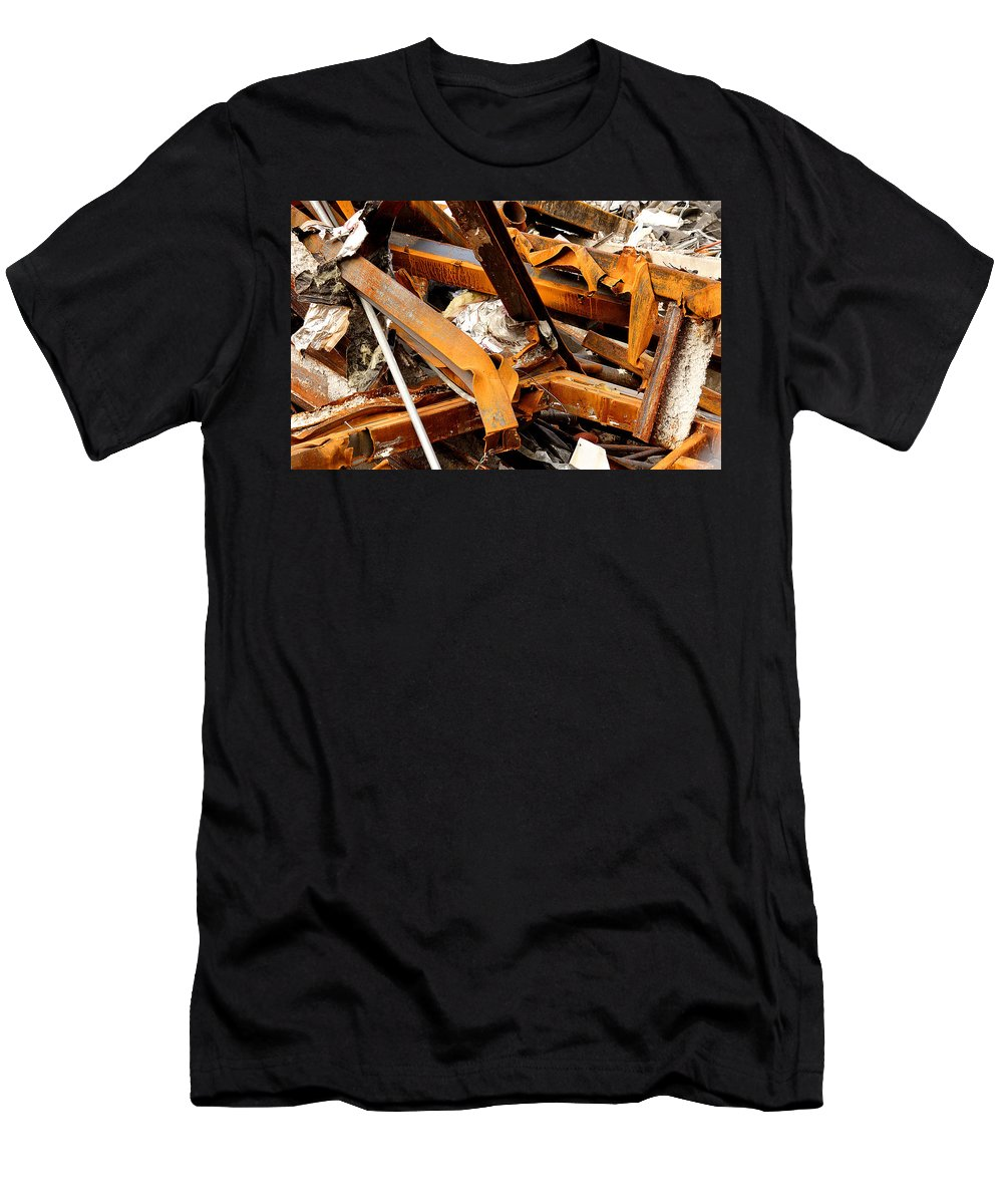 Steel Men's T-Shirt (Athletic Fit) featuring the photograph Jumbled Steel by Jean Macaluso
