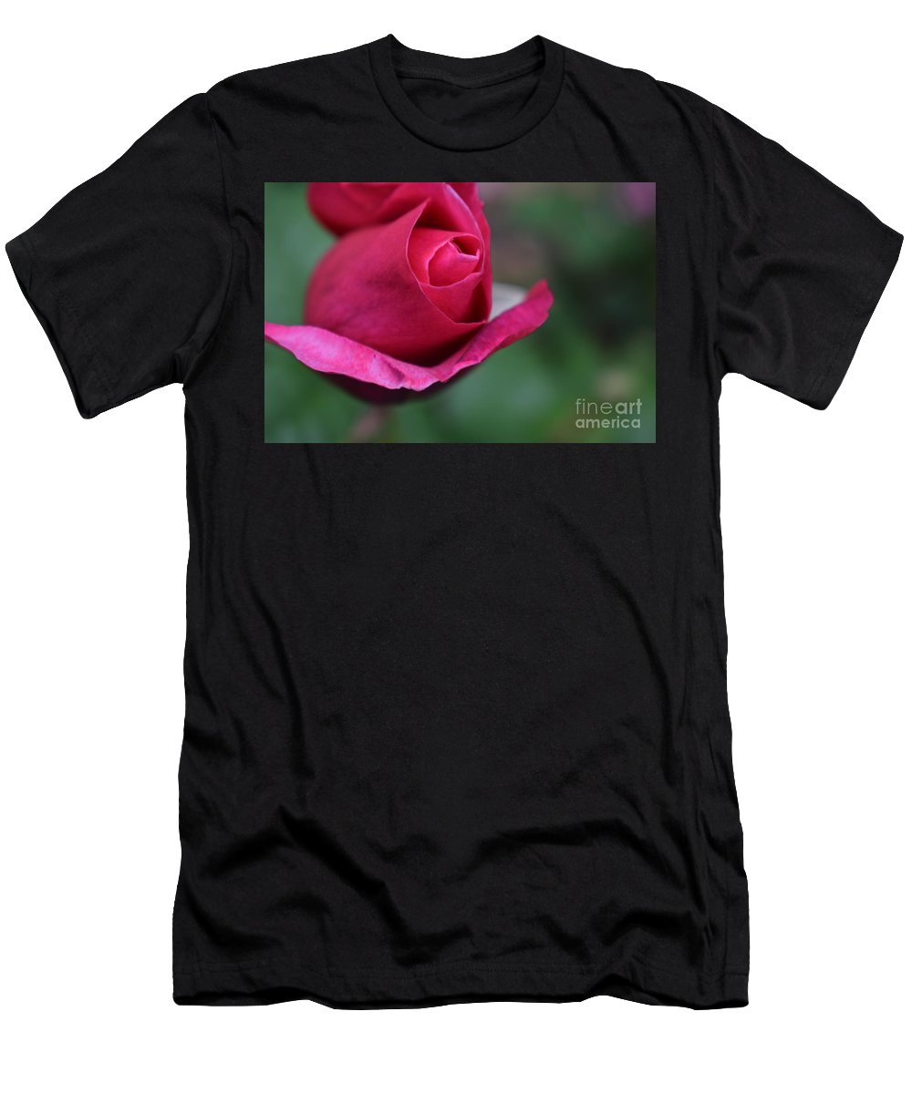 Men's T-Shirt (Athletic Fit) featuring the photograph June Rose #7 by Jordan Butterfield