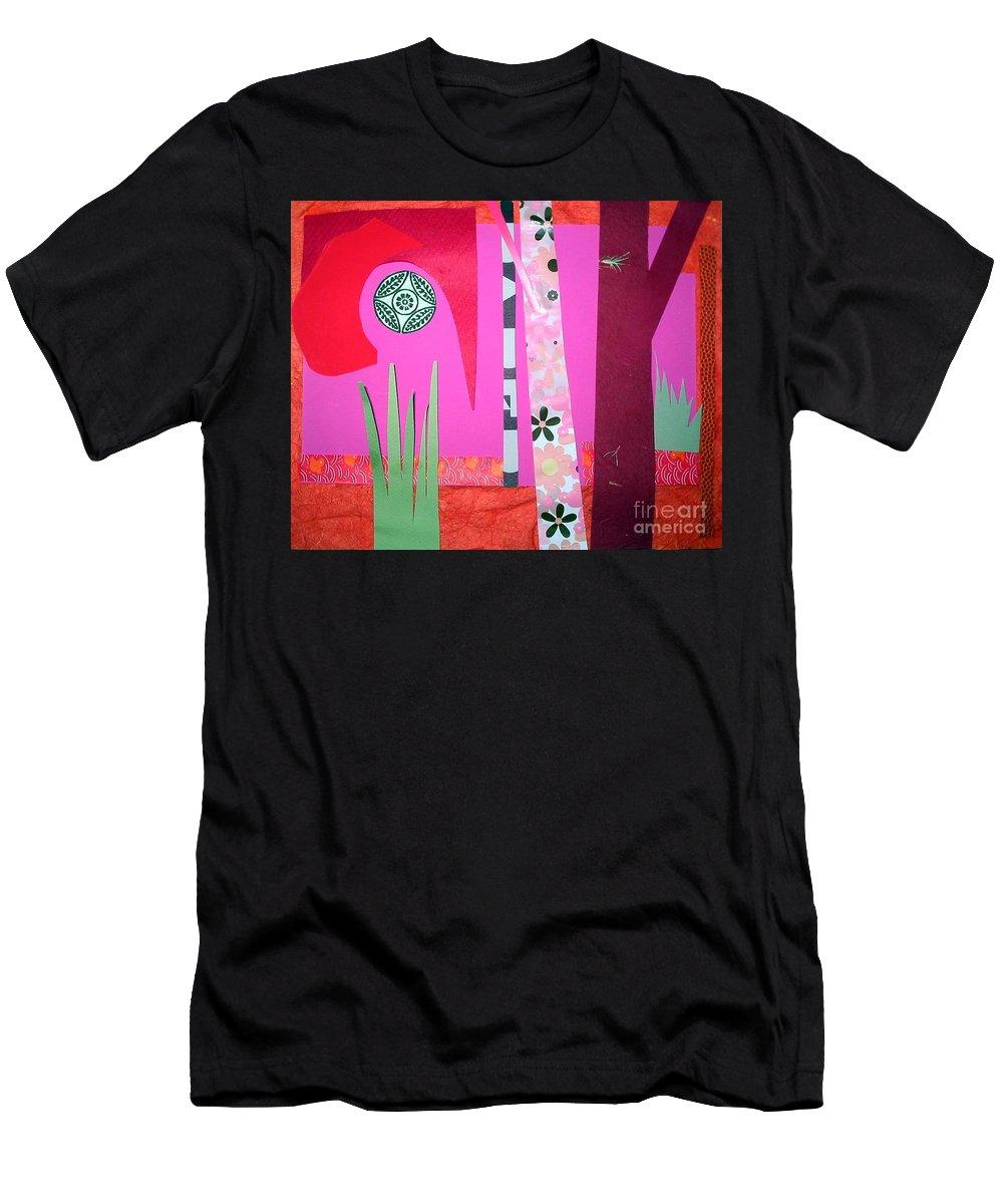 Landscape Men's T-Shirt (Athletic Fit) featuring the mixed media Jungle Temple by Debra Bretton Robinson