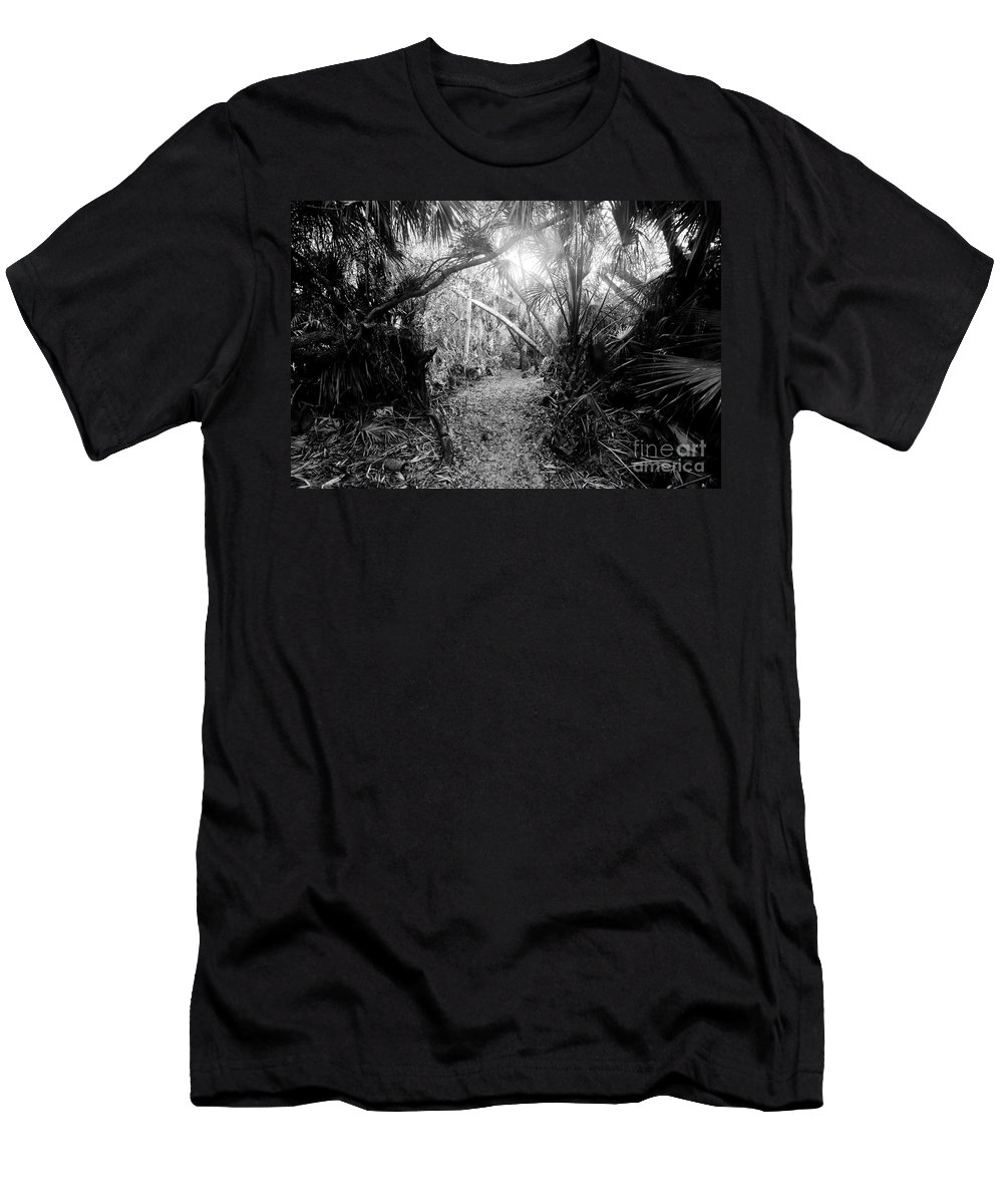 Jungle Men's T-Shirt (Athletic Fit) featuring the photograph Jungle Trail by David Lee Thompson