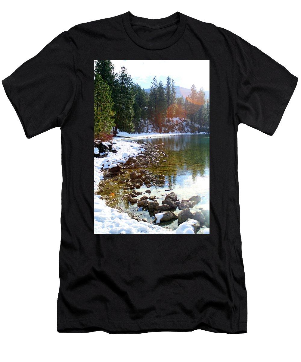 Juniper Men's T-Shirt (Athletic Fit) featuring the photograph Juniper Bay by Gralyn Haller