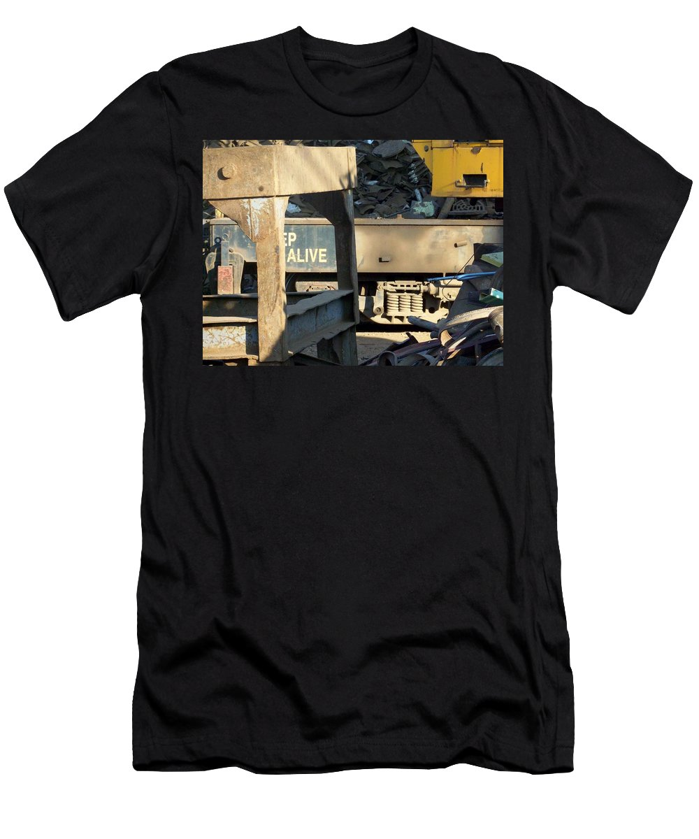 Junk Men's T-Shirt (Athletic Fit) featuring the photograph Junk 7 by Anita Burgermeister