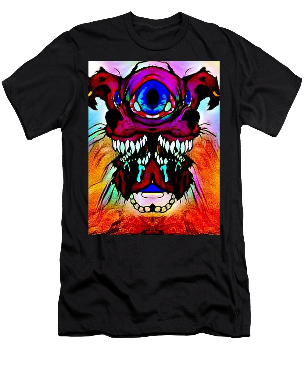 Psychedelic Men's T-Shirt (Athletic Fit) featuring the digital art Junkie Cyclops by Faith Sheets