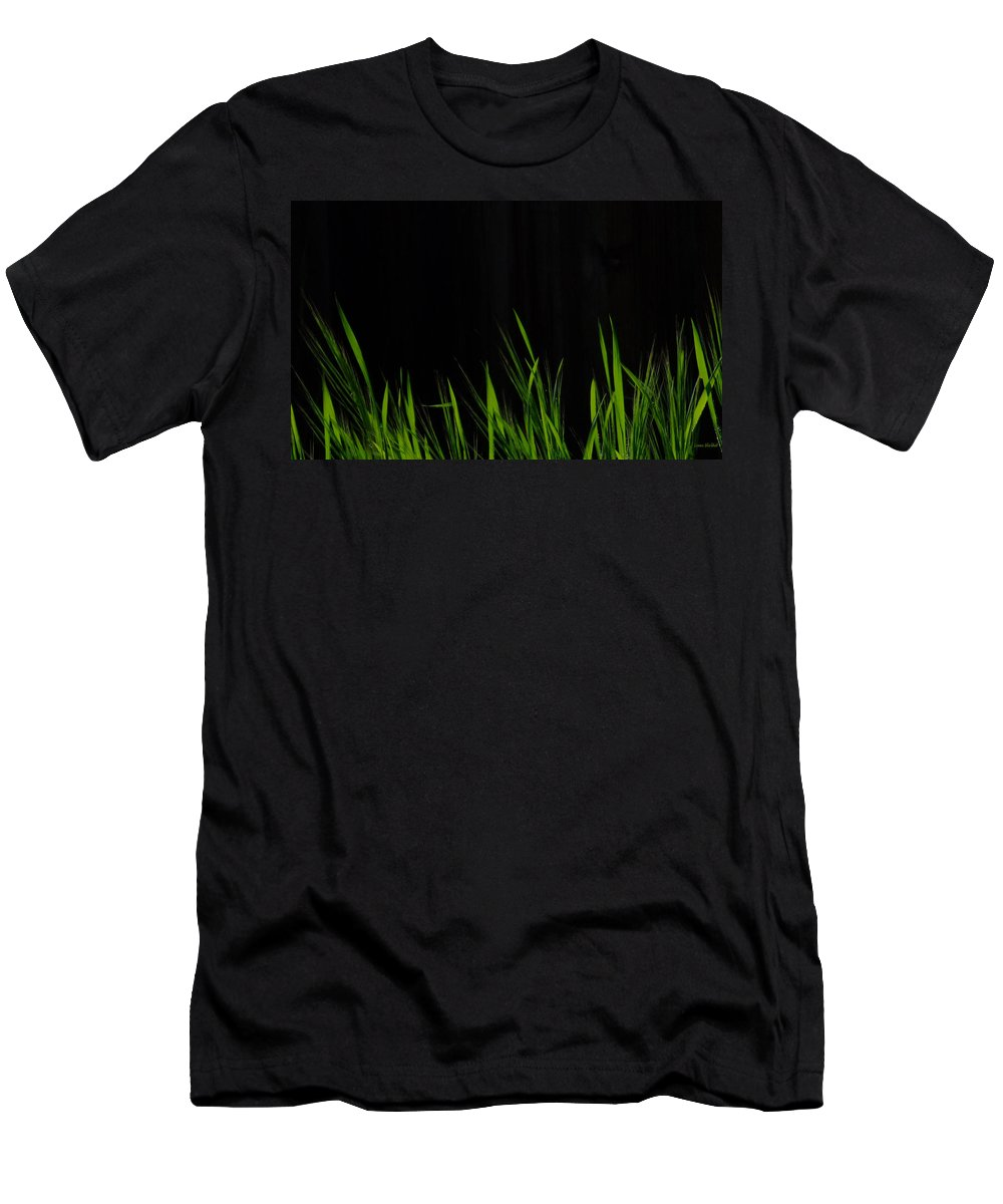Grass Men's T-Shirt (Athletic Fit) featuring the photograph Just A Little Grass by Donna Blackhall