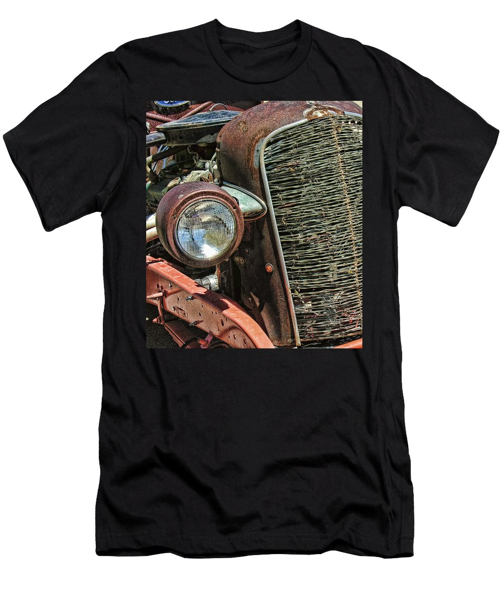 Rust Men's T-Shirt (Athletic Fit) featuring the photograph Just A Little Rust by Adam Vance
