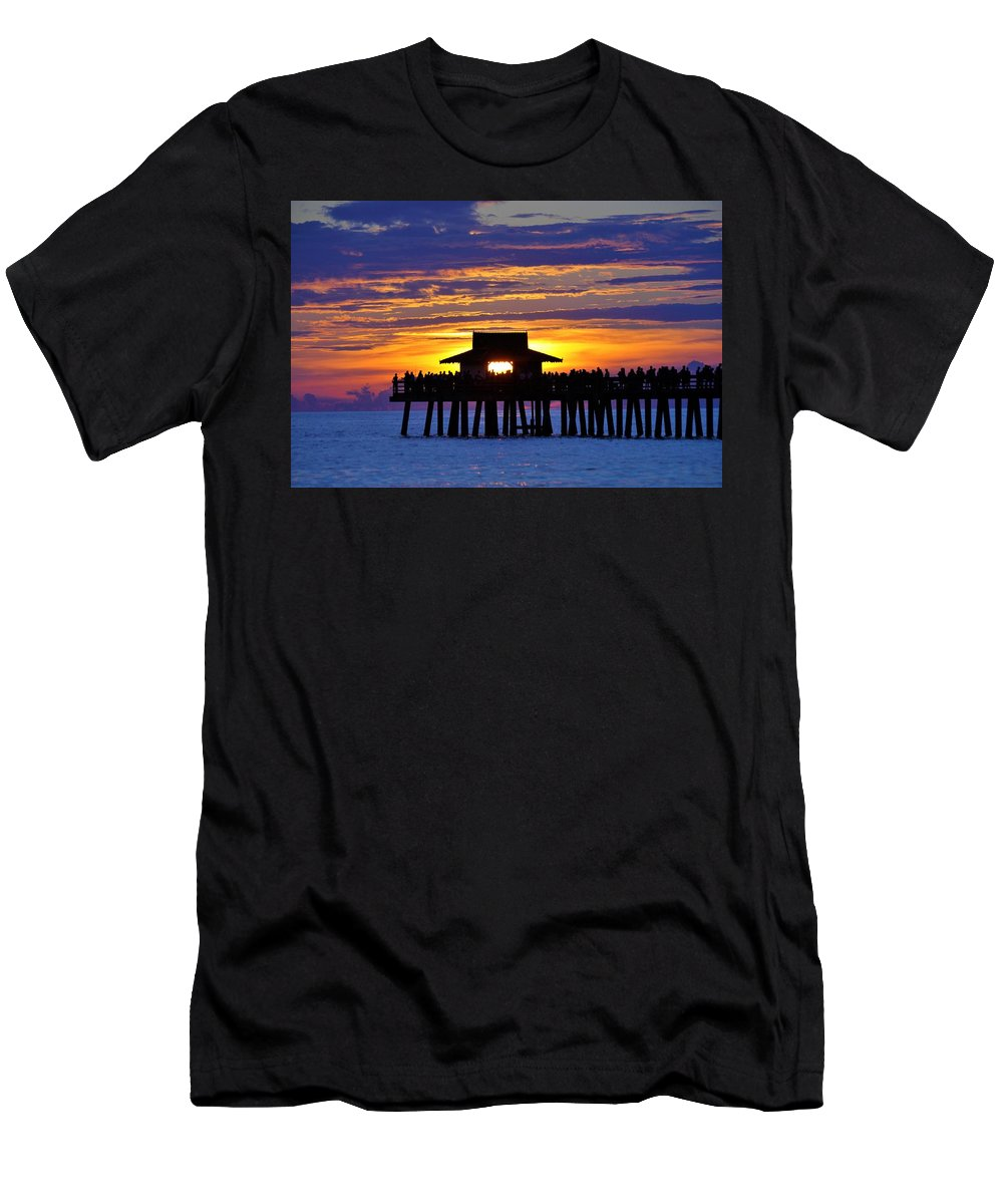 Naples Men's T-Shirt (Athletic Fit) featuring the photograph Just Another Day In Paradise by Don Columbus