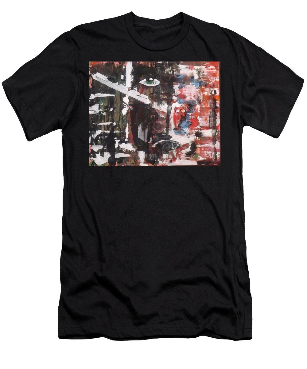 Abstract Art Men's T-Shirt (Athletic Fit) featuring the painting Just Look At You by Denise Morgan