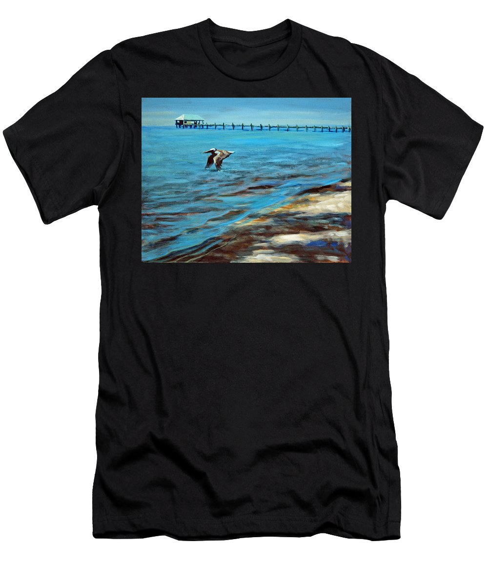 Acrylic Men's T-Shirt (Athletic Fit) featuring the painting Just Passing By by Suzanne McKee
