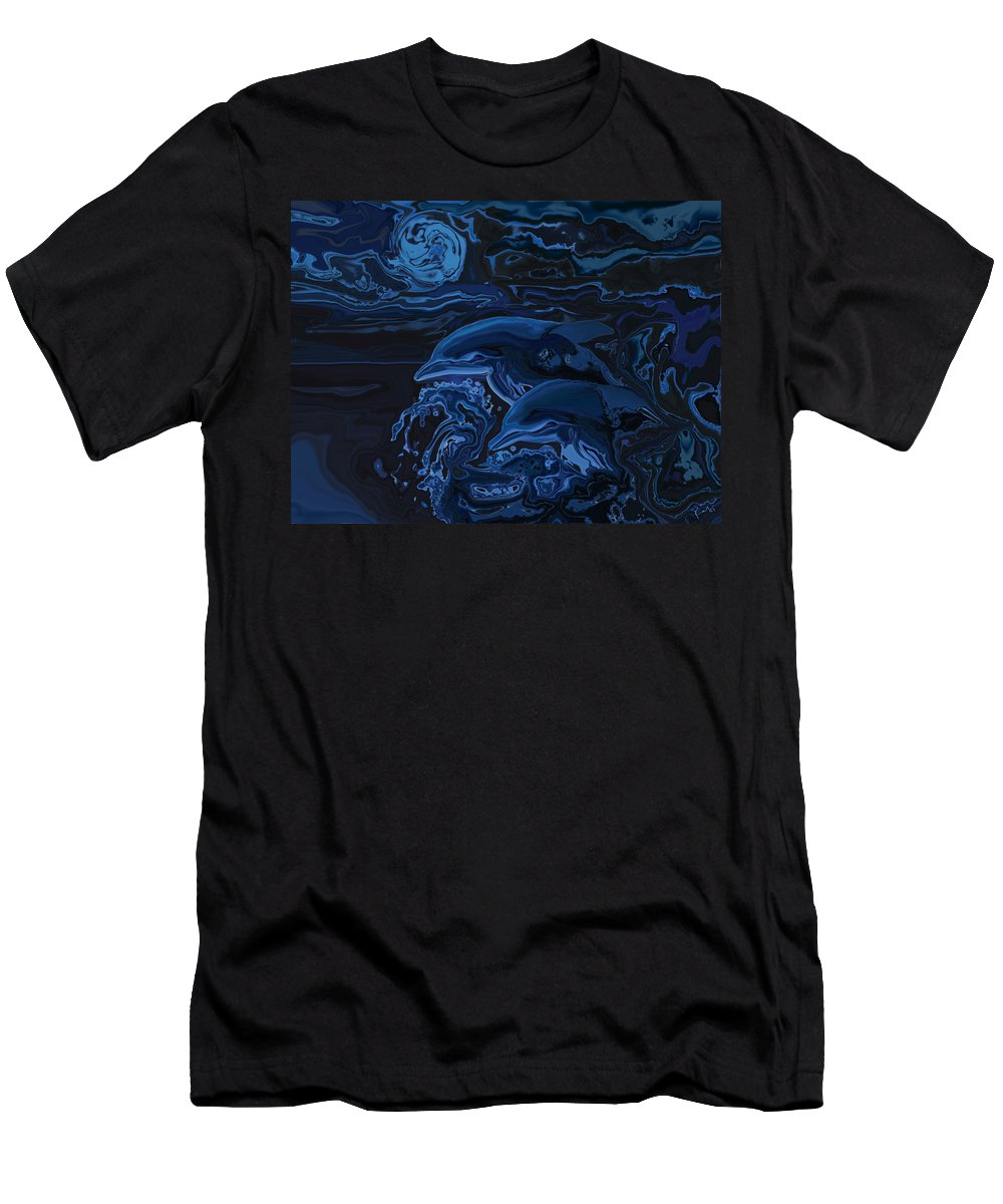 Animal Men's T-Shirt (Athletic Fit) featuring the digital art Just The Two Of Us by Rabi Khan