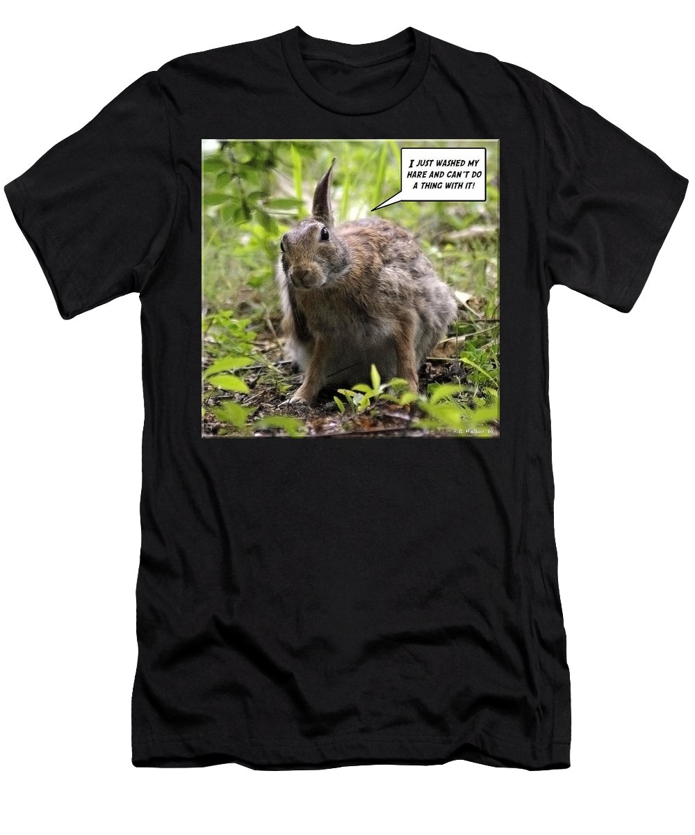 2d Men's T-Shirt (Athletic Fit) featuring the photograph Just Washed My Hare by Brian Wallace