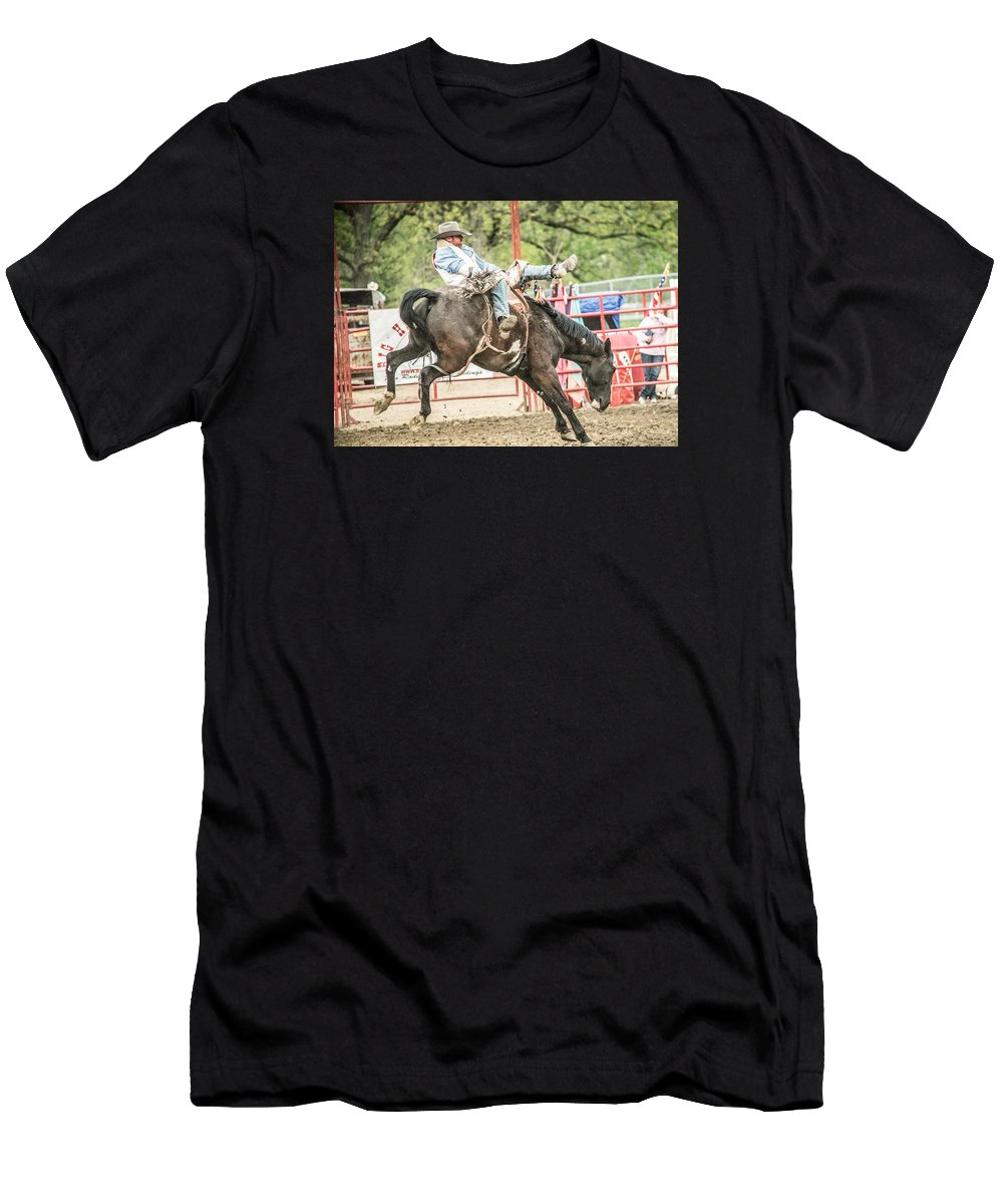 Orange & Blue Rodeo Men's T-Shirt (Athletic Fit) featuring the photograph K by Terry Brown