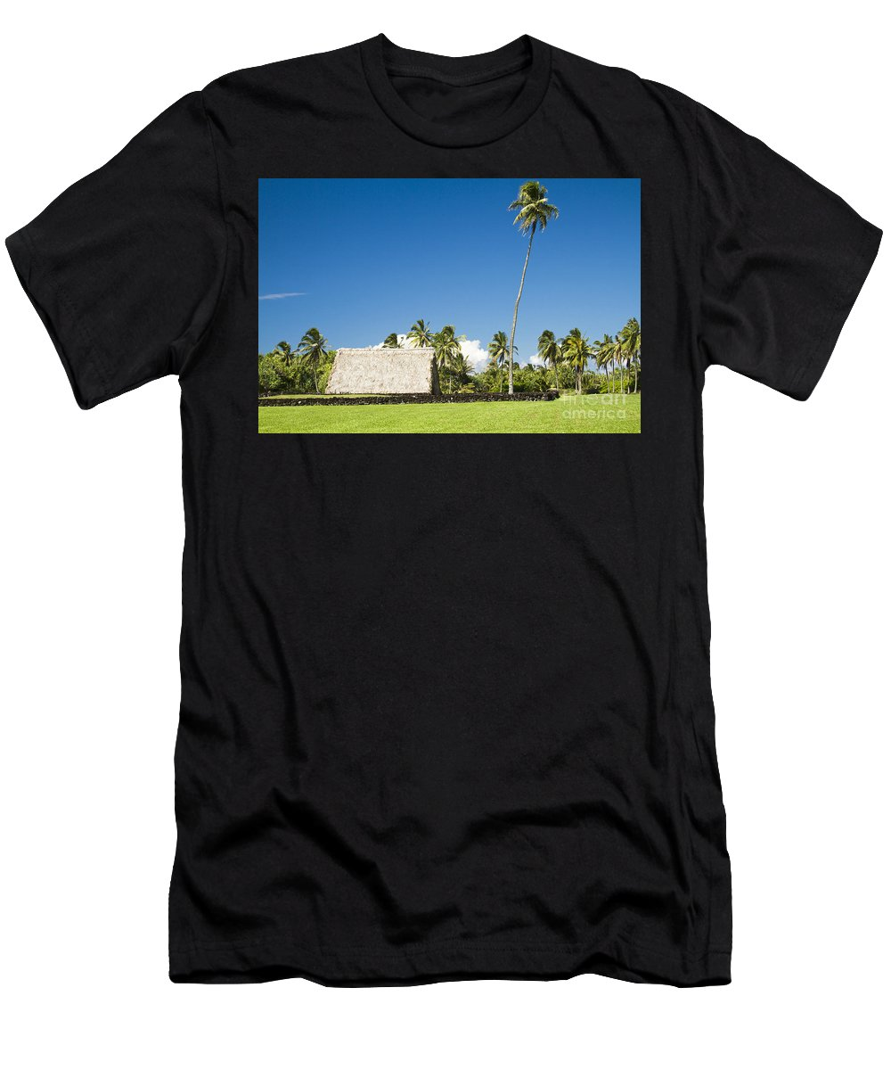 Kahanu Garden Men's T-Shirt (Athletic Fit) featuring the photograph Kahanu Garden Hana Maui Hawaii by Sharon Mau